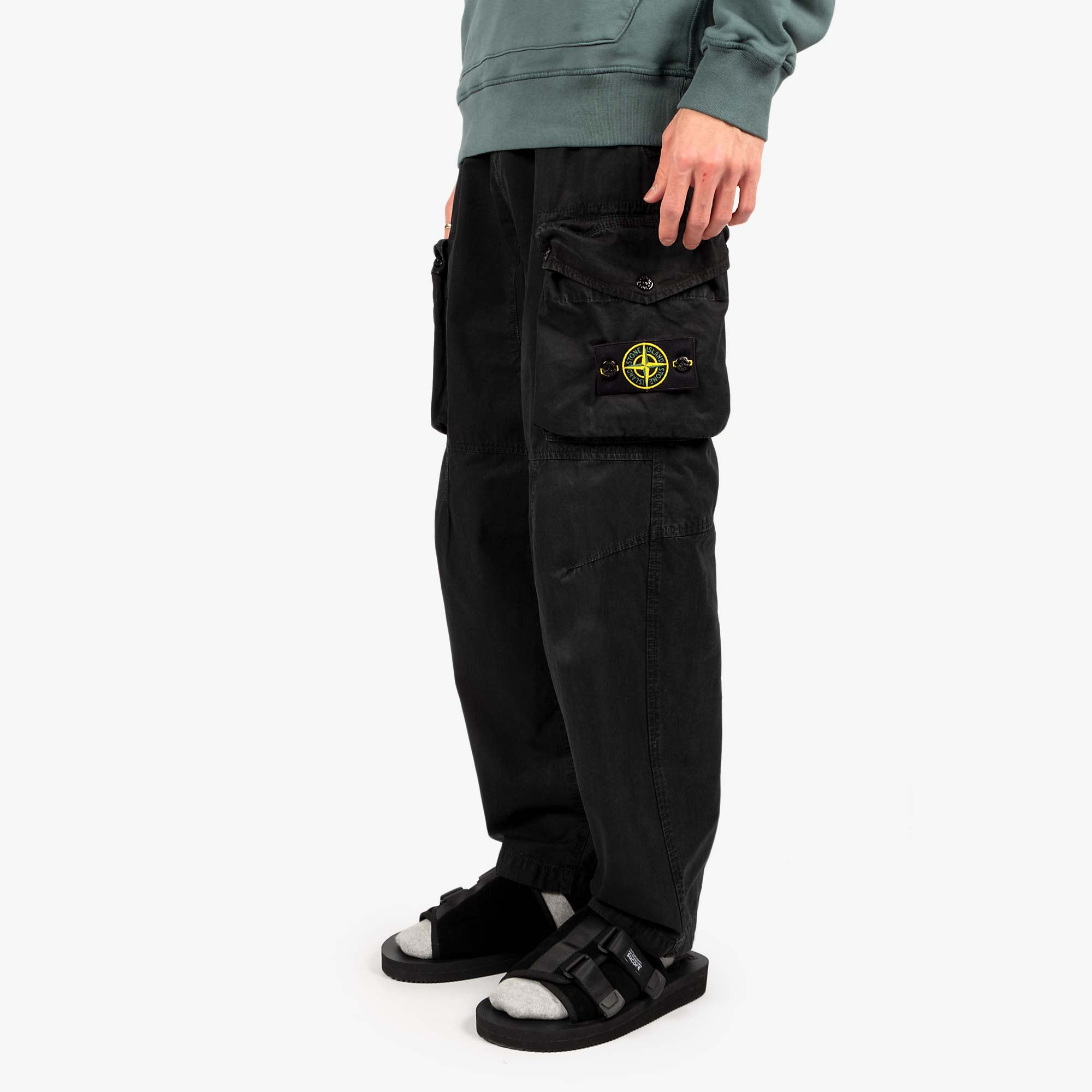 Stone Island T.CO Old Effect Cargo Pant 7415319WA - Black 2
