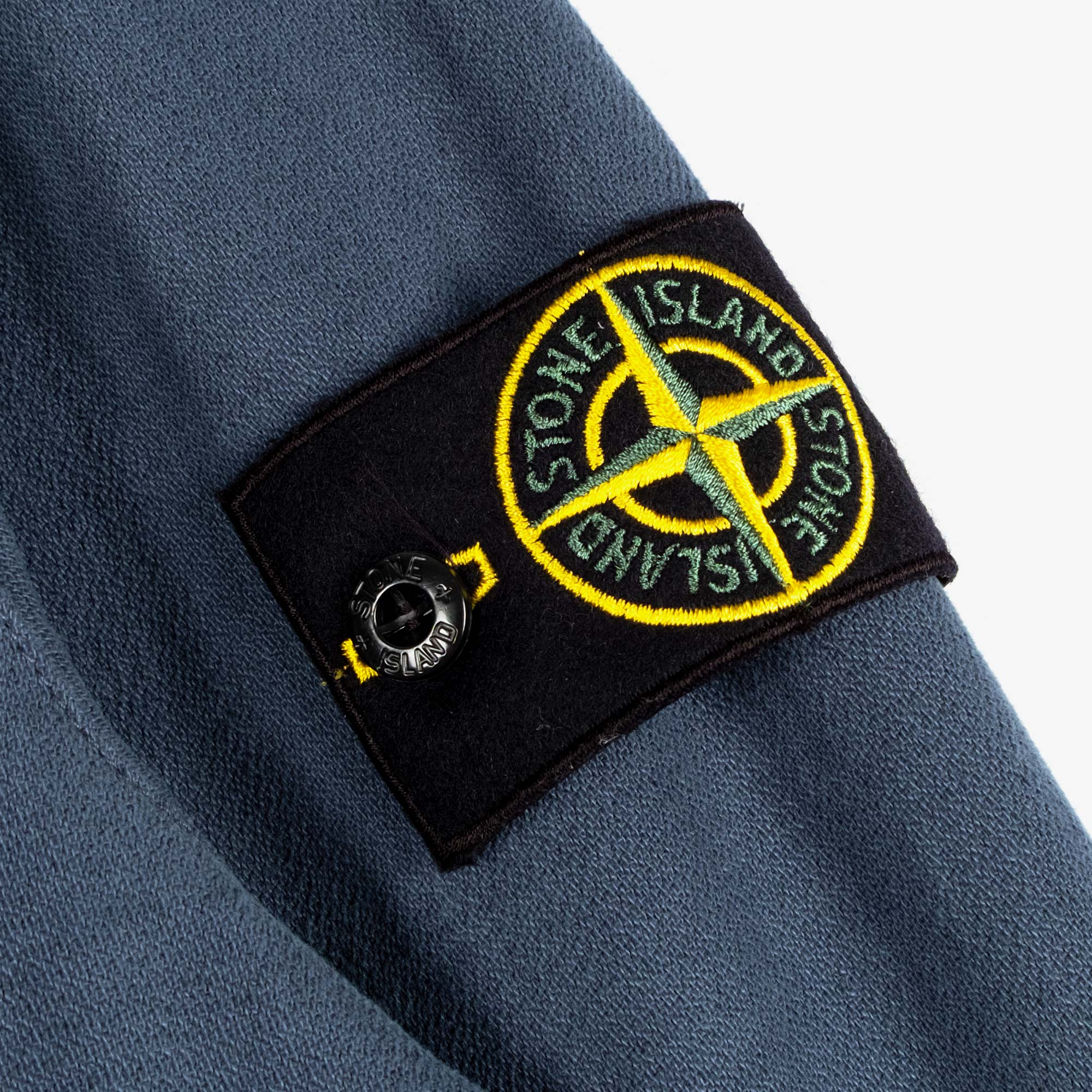 Stone Island Textured Brushed Recycled Cotton Overshirt 10704 - Cobalt Blue 4