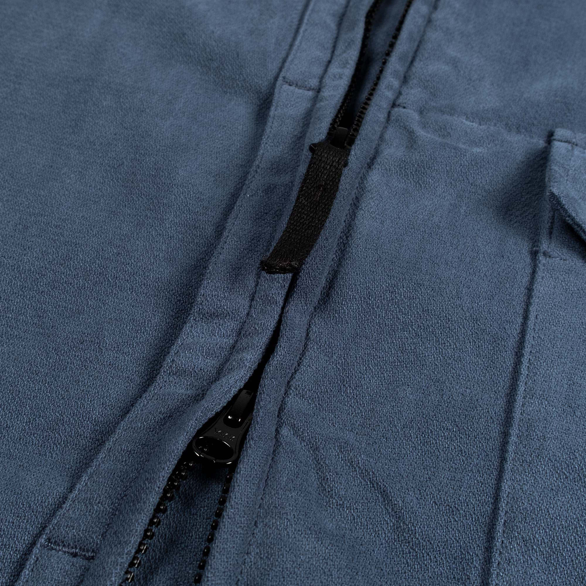 Stone Island Textured Brushed Recycled Cotton Overshirt 10704 - Cobalt Blue 6