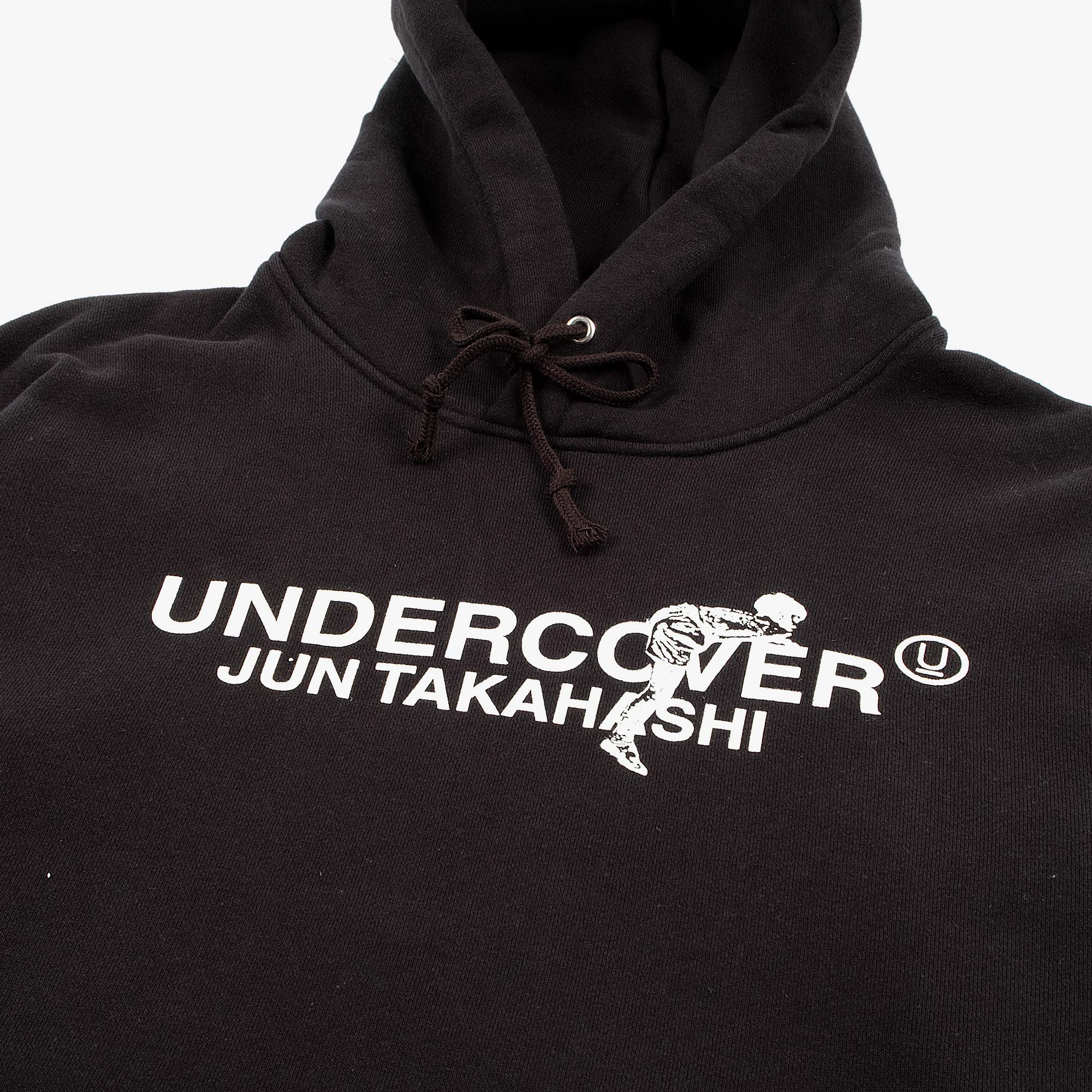 Undercover Climbing Logo Hooded Sweat UC2A4894-3 - Black 3