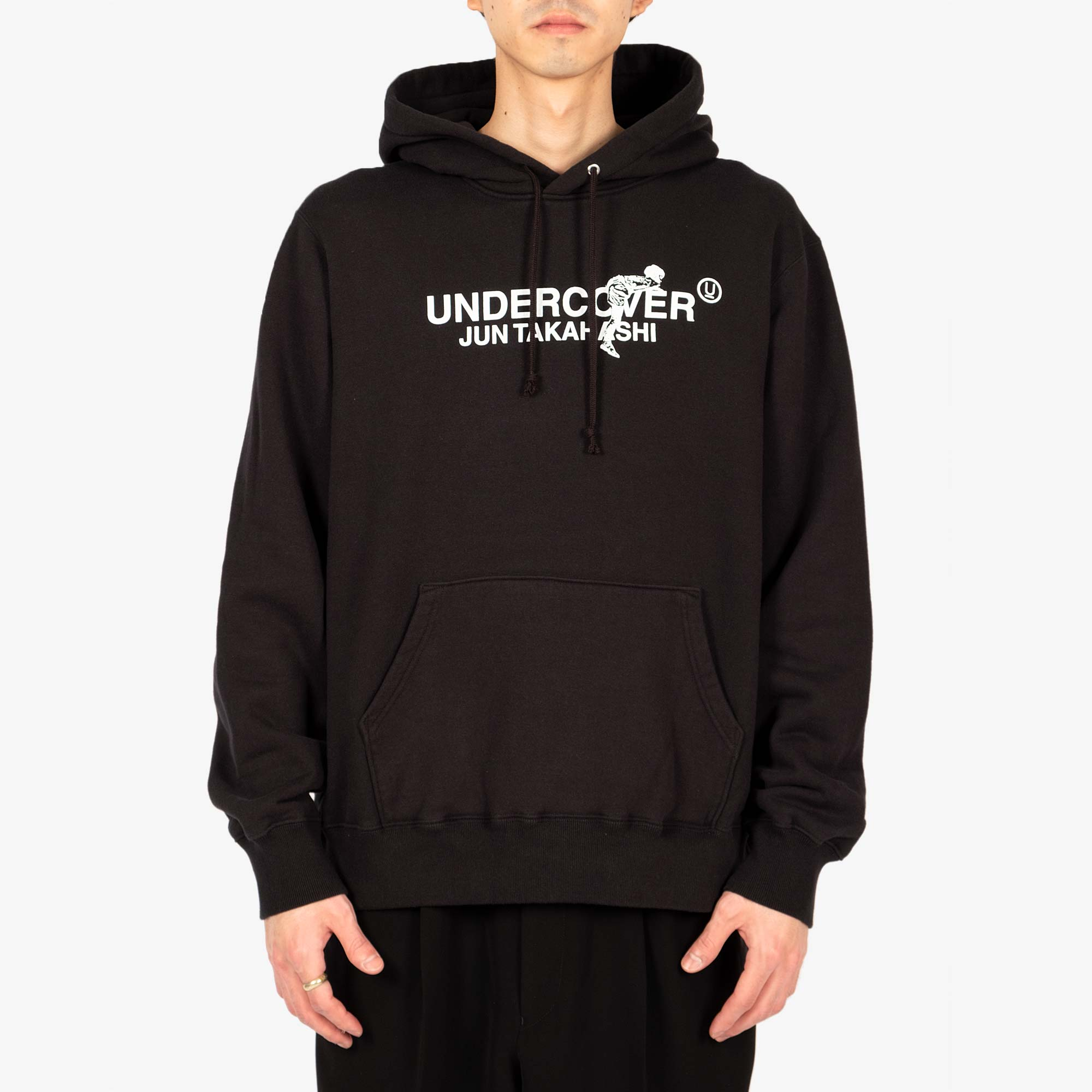 Undercover Climbing Logo Hooded Sweat UC2A4894-3 - Black 4