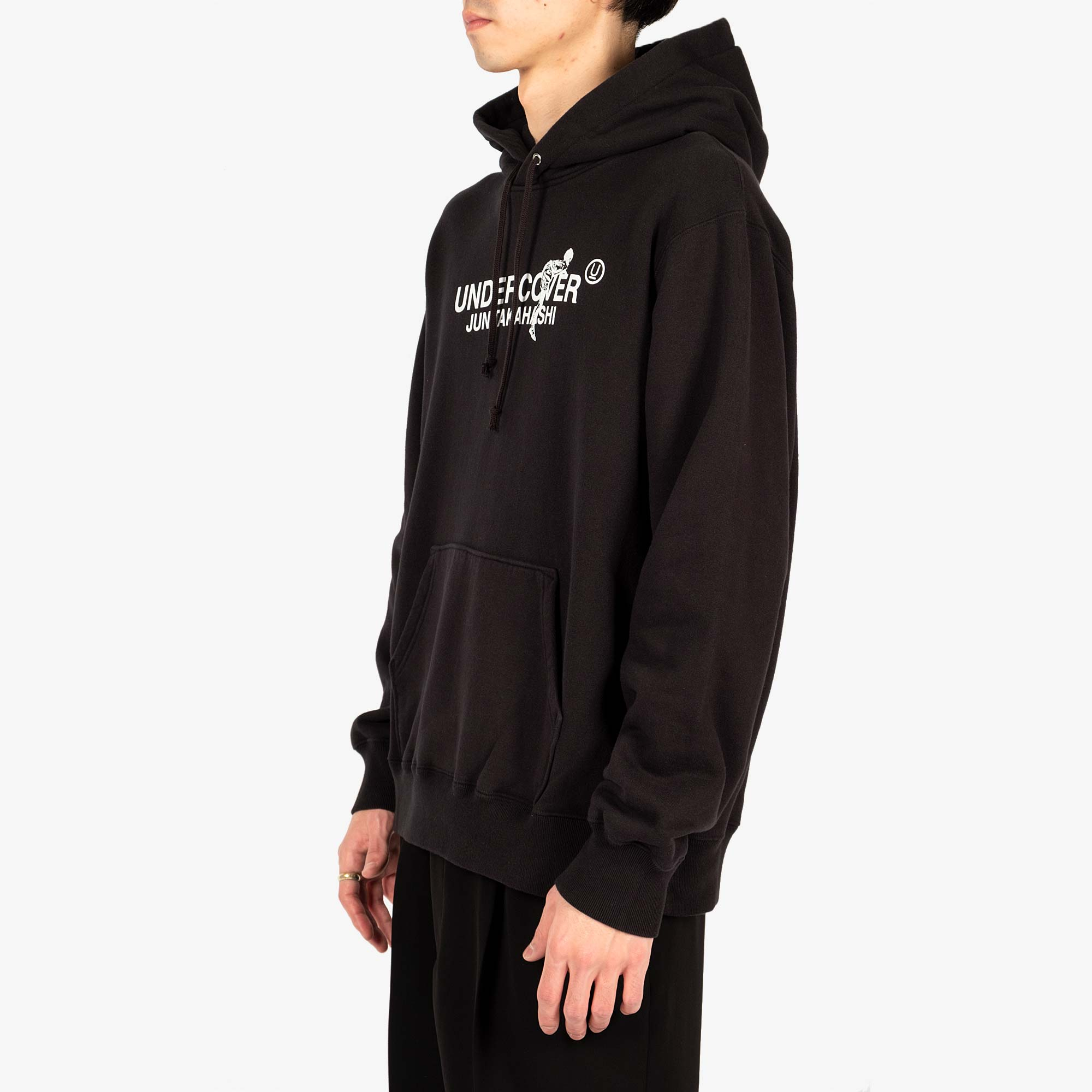 Undercover Climbing Logo Hooded Sweat UC2A4894-3 - Black 5