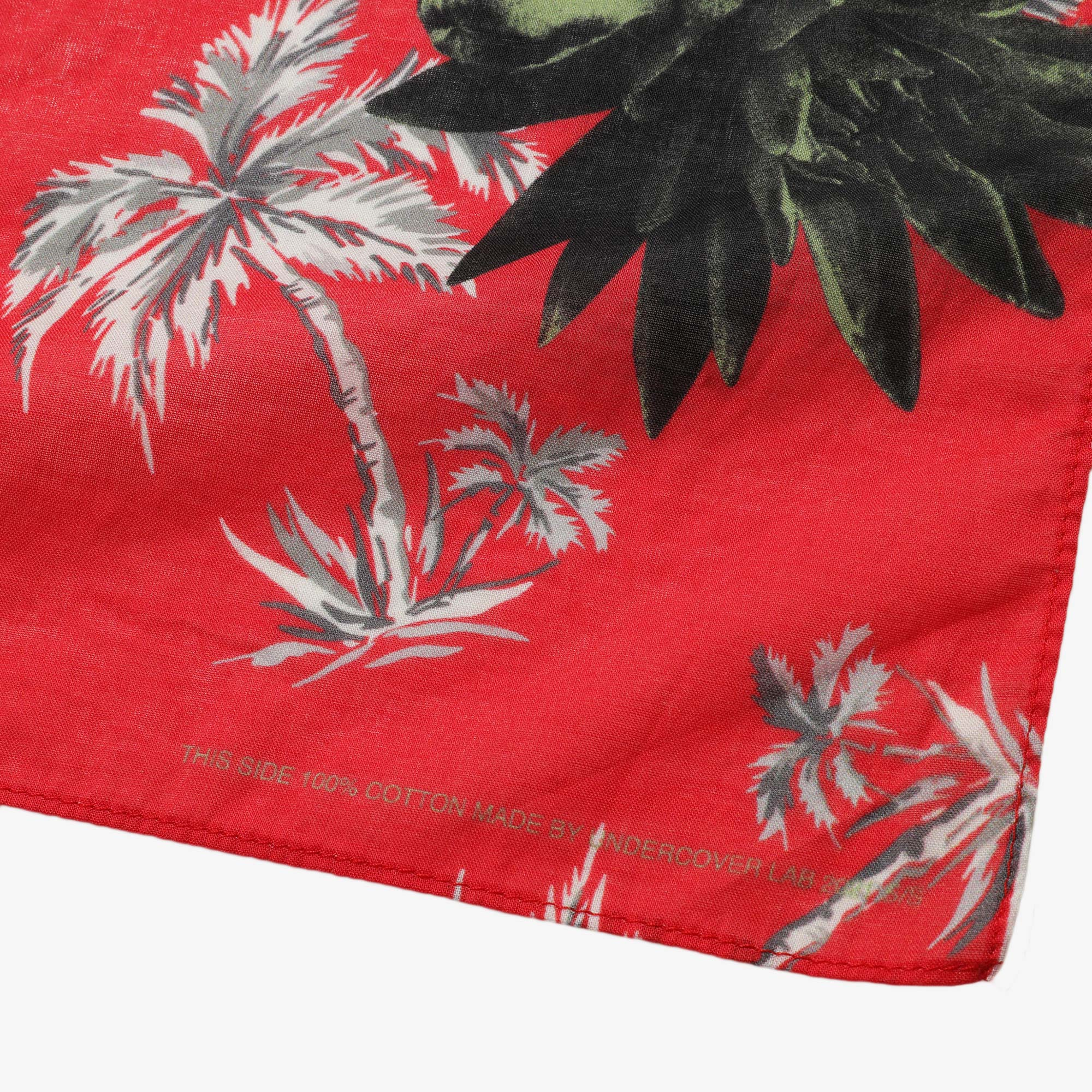 Undercover Faces Pocket Square UC1A4M01-2 - Red Base 2