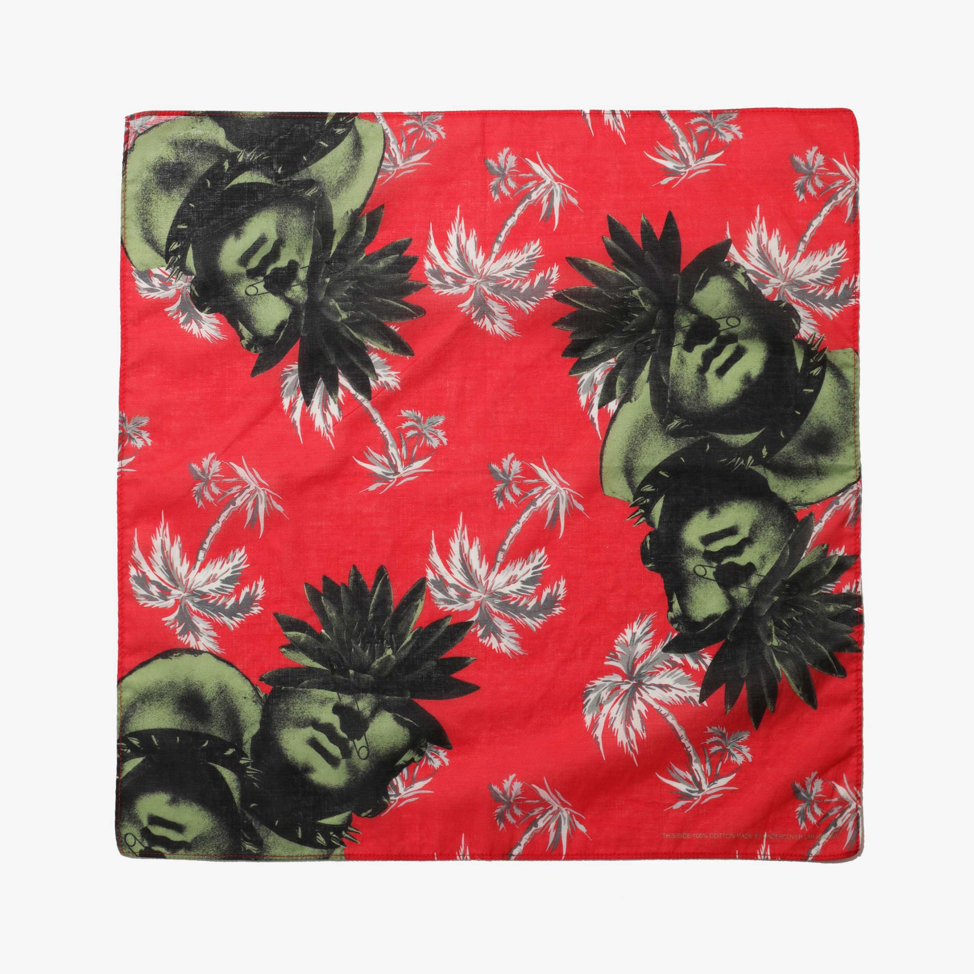 Undercover Faces Pocket Square UC1A4M01-2 - Red Base 1