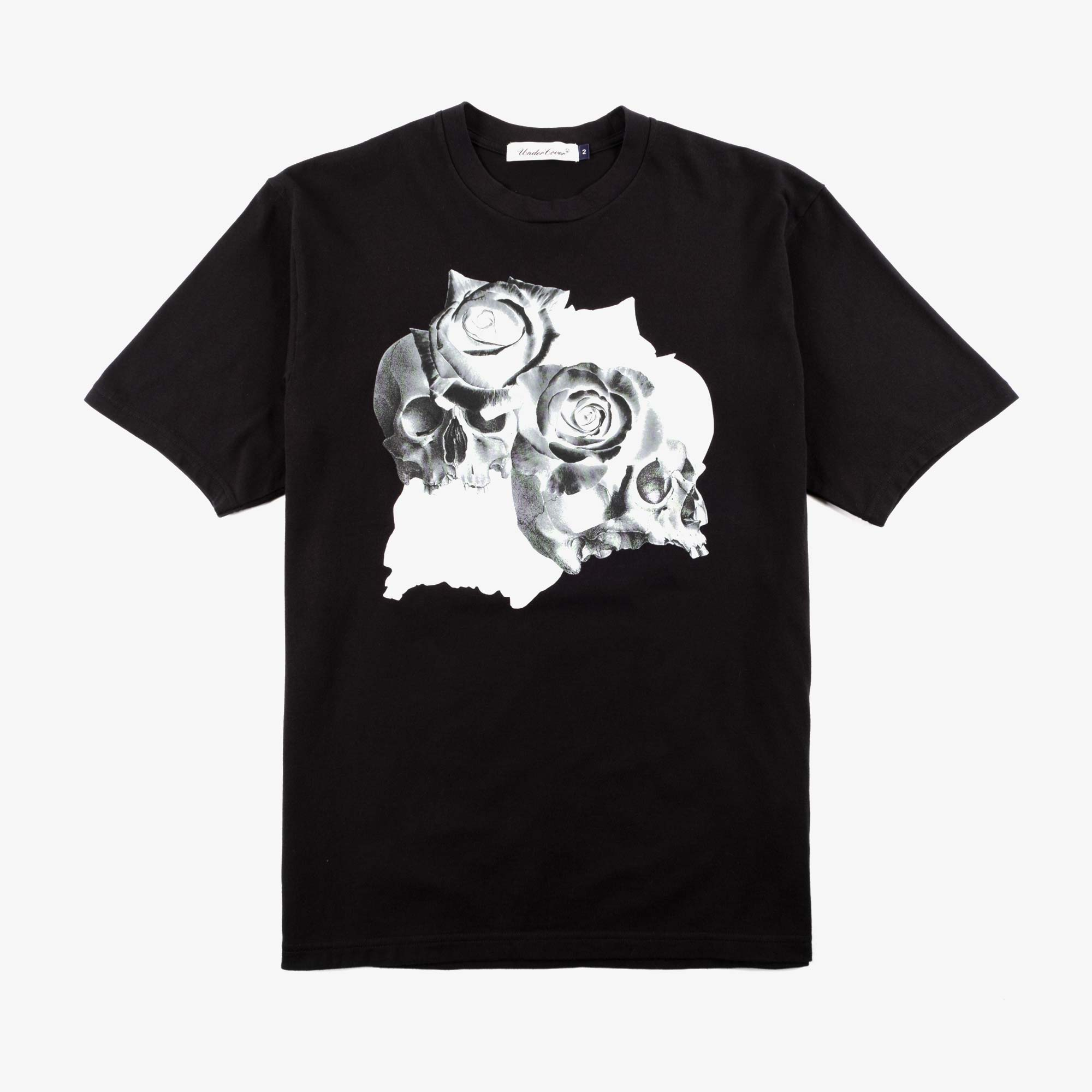 Undercover Roses Skull Tee UC1A3810 - Black 1