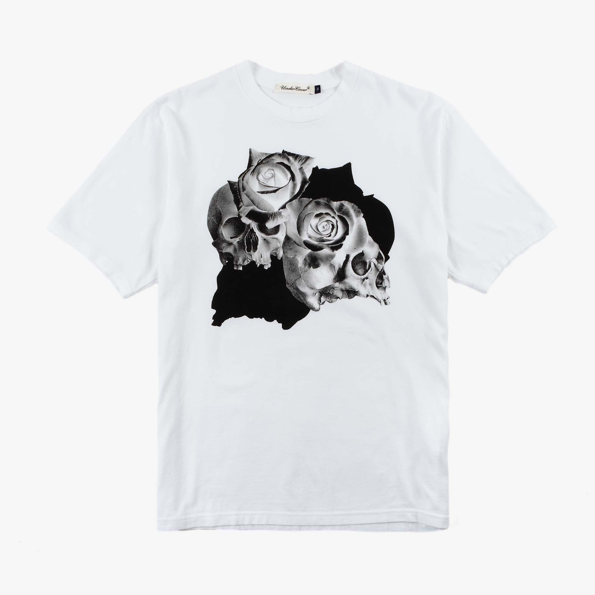 Undercover Roses Skull Tee UC1A3810 - White 1