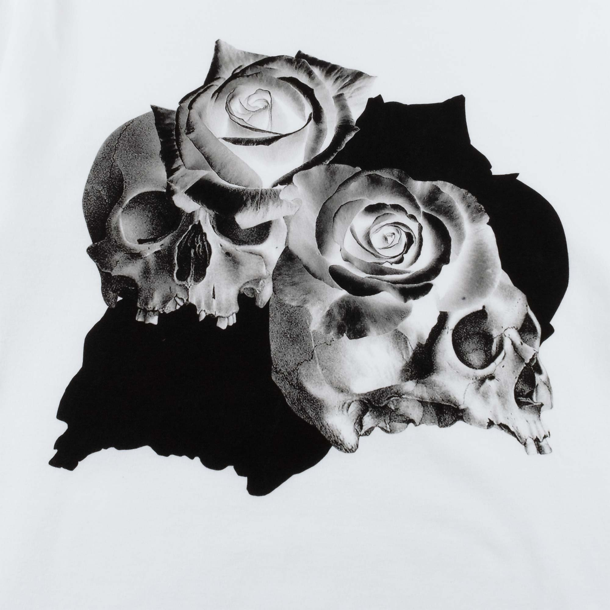 Undercover Roses Skull Tee UC1A3810 - White 2