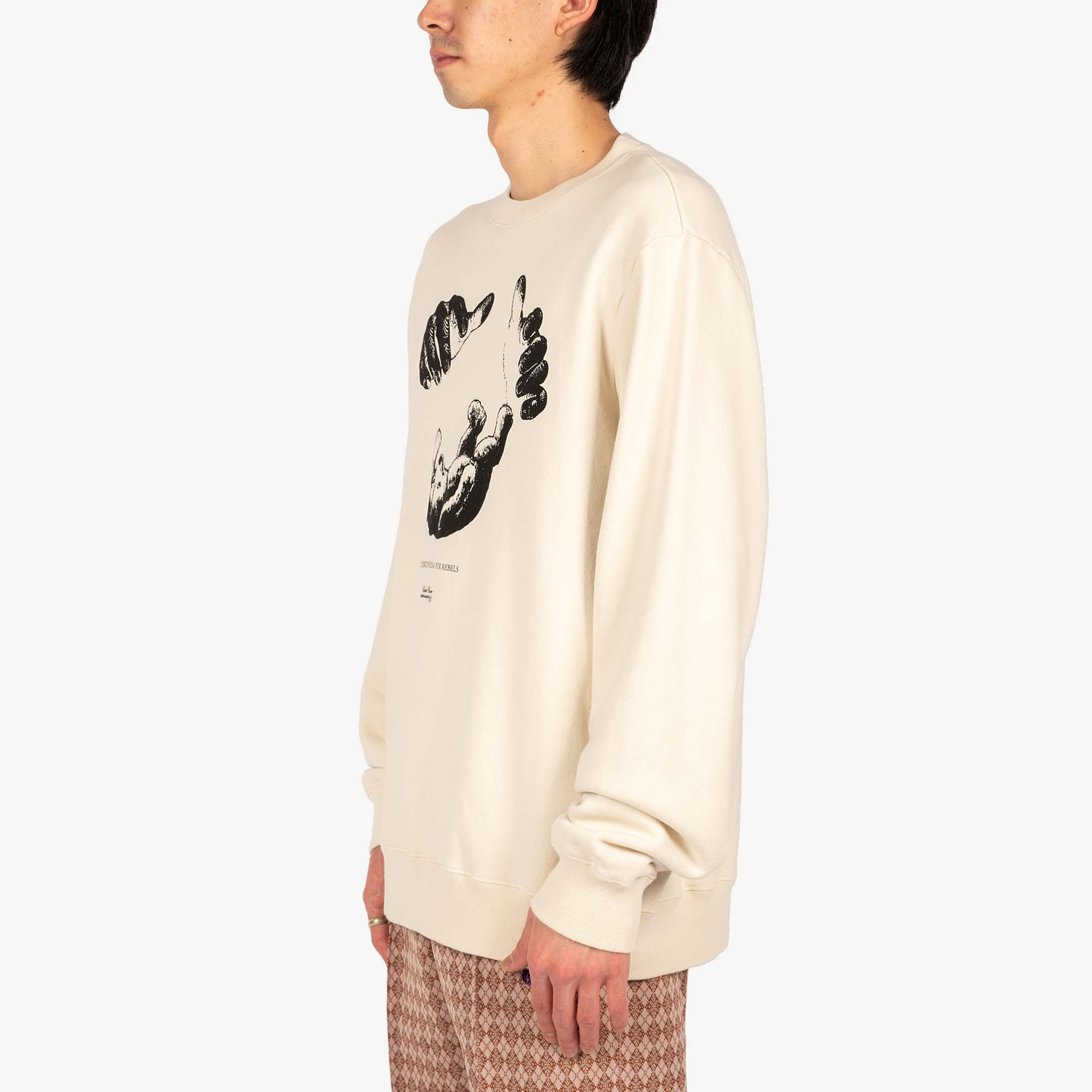 Undercover Teddy Sweat UC2A4893-6 - Ivory 4