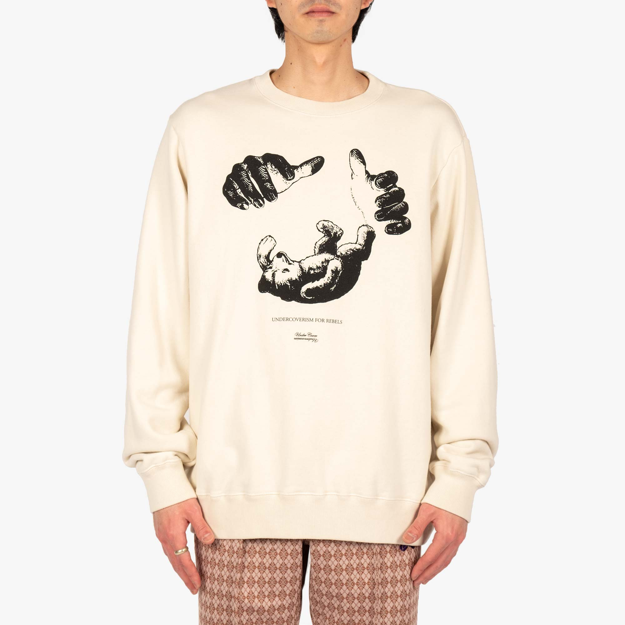 Undercover Teddy Sweat UC2A4893-6 - Ivory 2