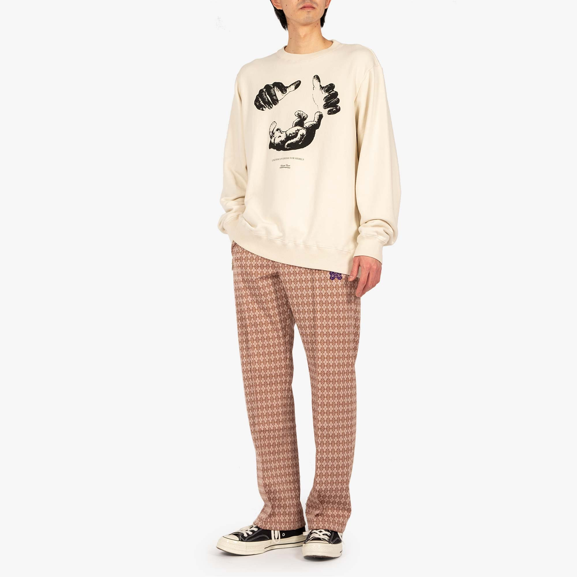 Undercover Teddy Sweat UC2A4893-6 - Ivory 3