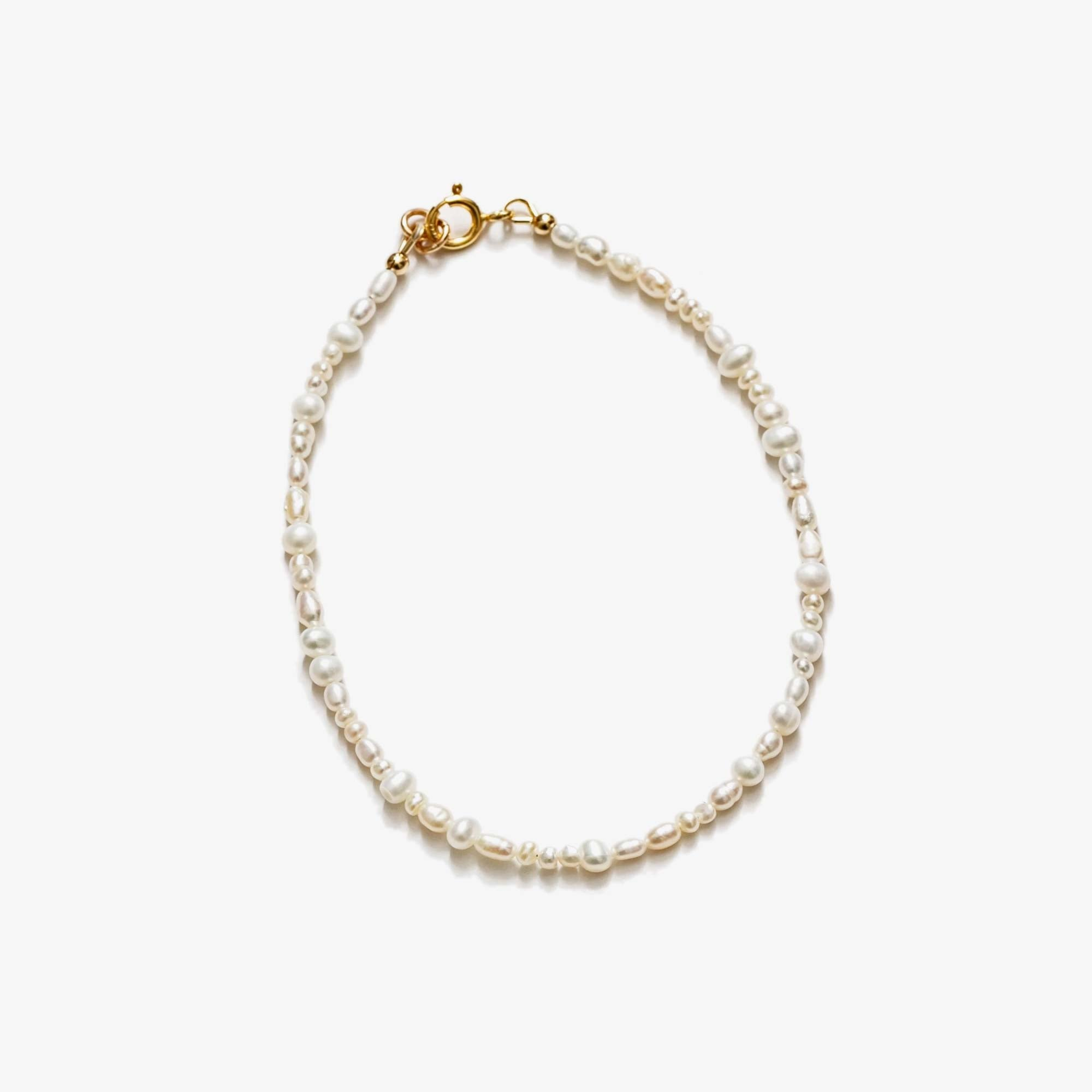 Wolf Circus Renata Anklet - Freshwater Pearl / Gold 1