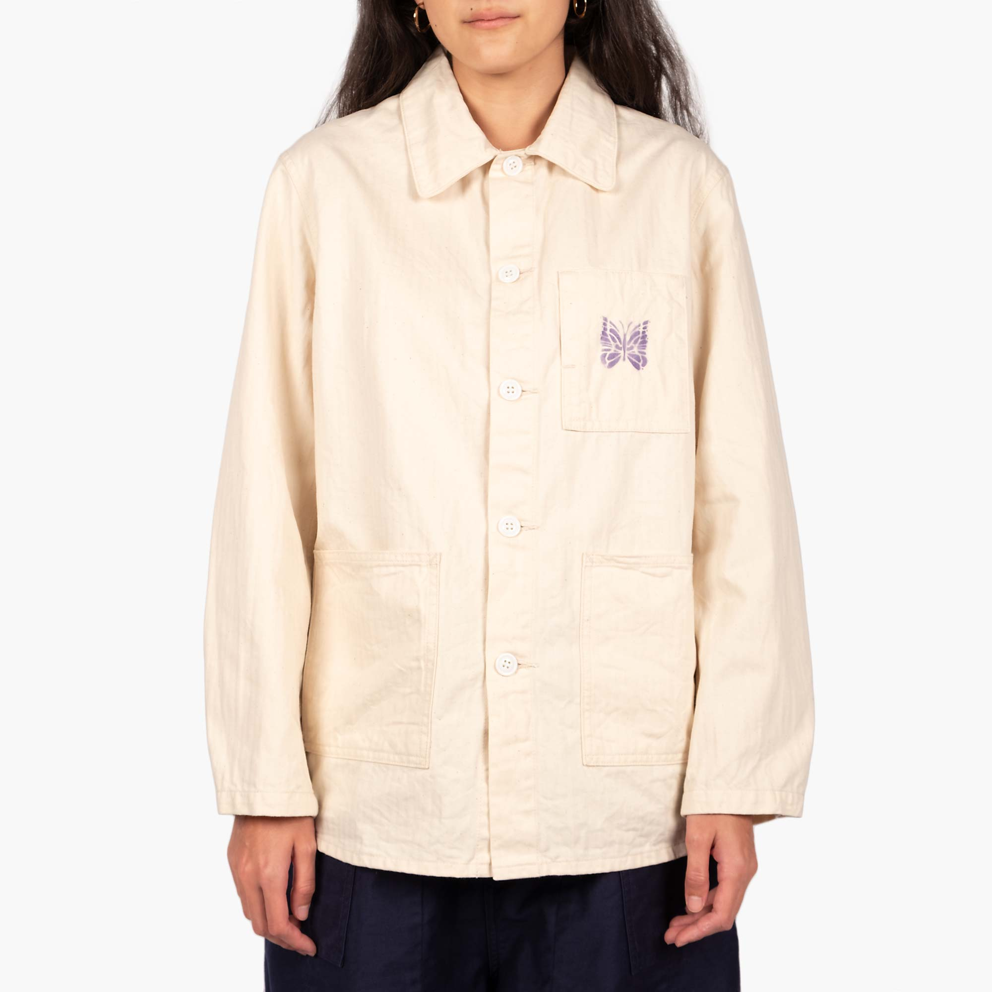 Needles Women's D.N. Coverall Jacket - Off White 1