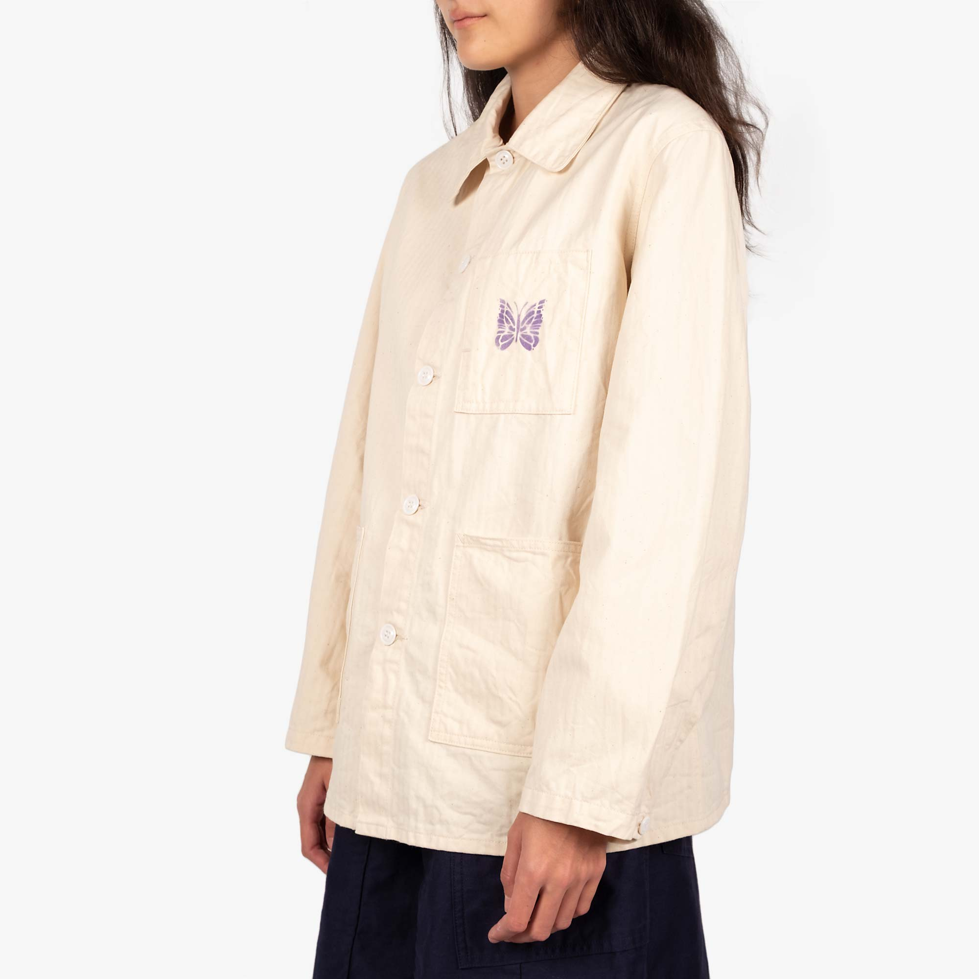 Needles Women's D.N. Coverall Jacket - Off White 3