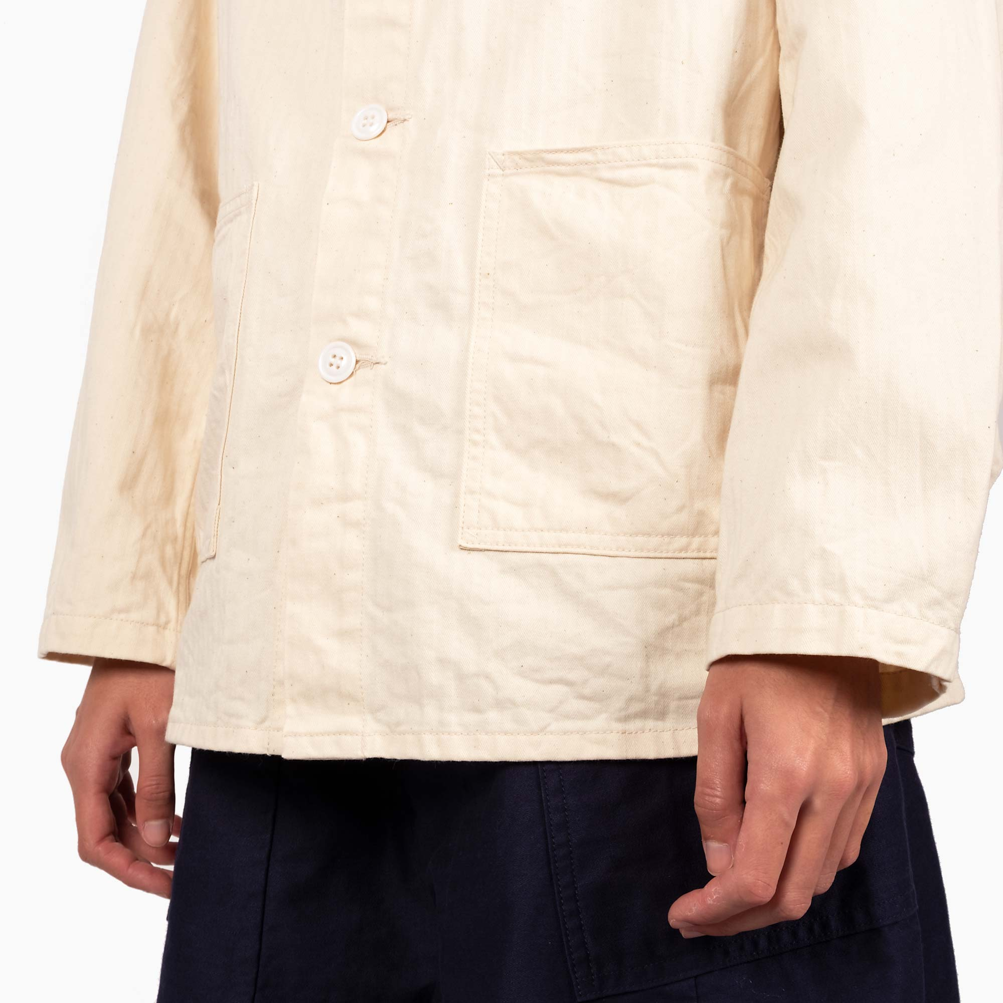 Needles Women's D.N. Coverall Jacket - Off White 5
