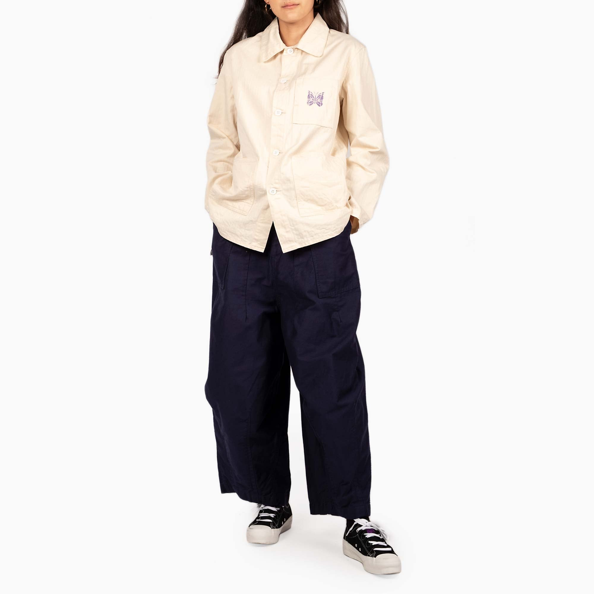 Needles Women's D.N. Coverall Jacket - Off White 2