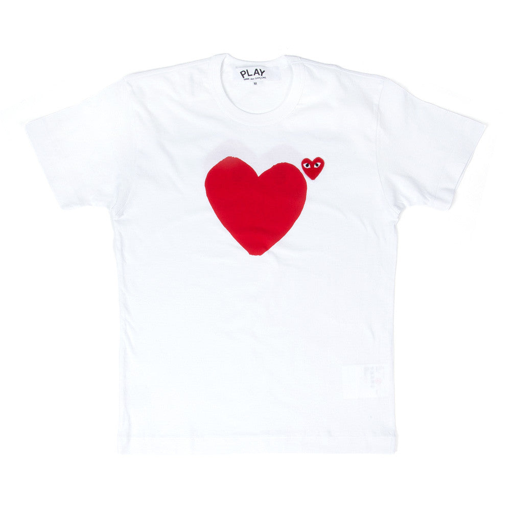 Comme des Garçons - PLAY Front and Back Tee - White 1