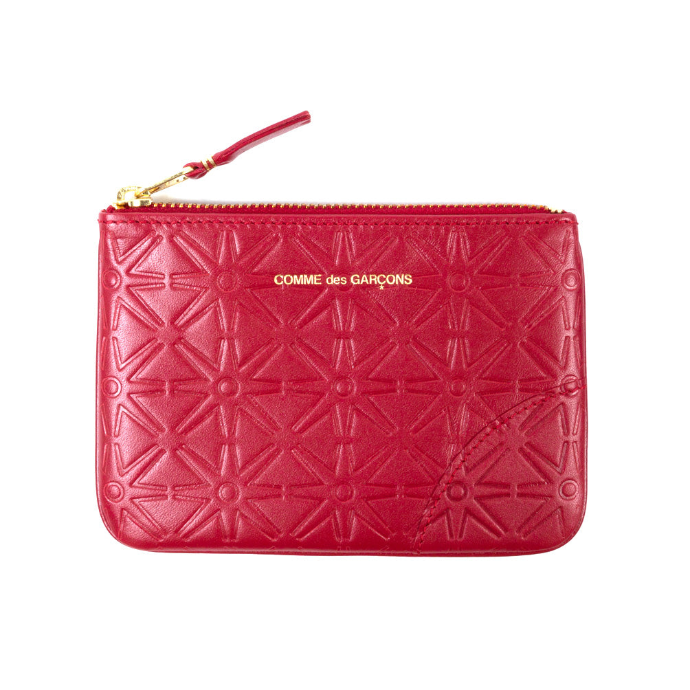 Comme des Garçons - Wallet Embossed A Pouch SA810EA - Red 1
