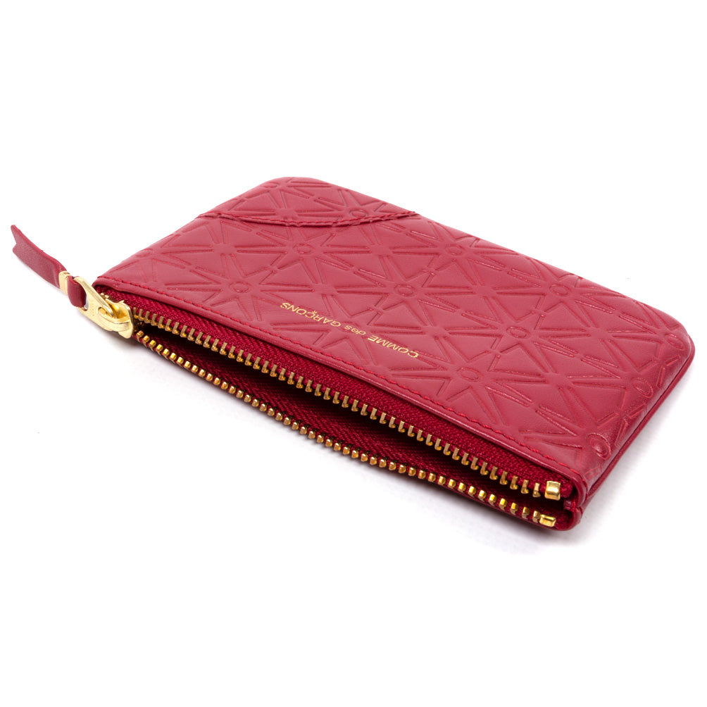 Comme des Garçons - Wallet Embossed A Pouch SA810EA - Red 2