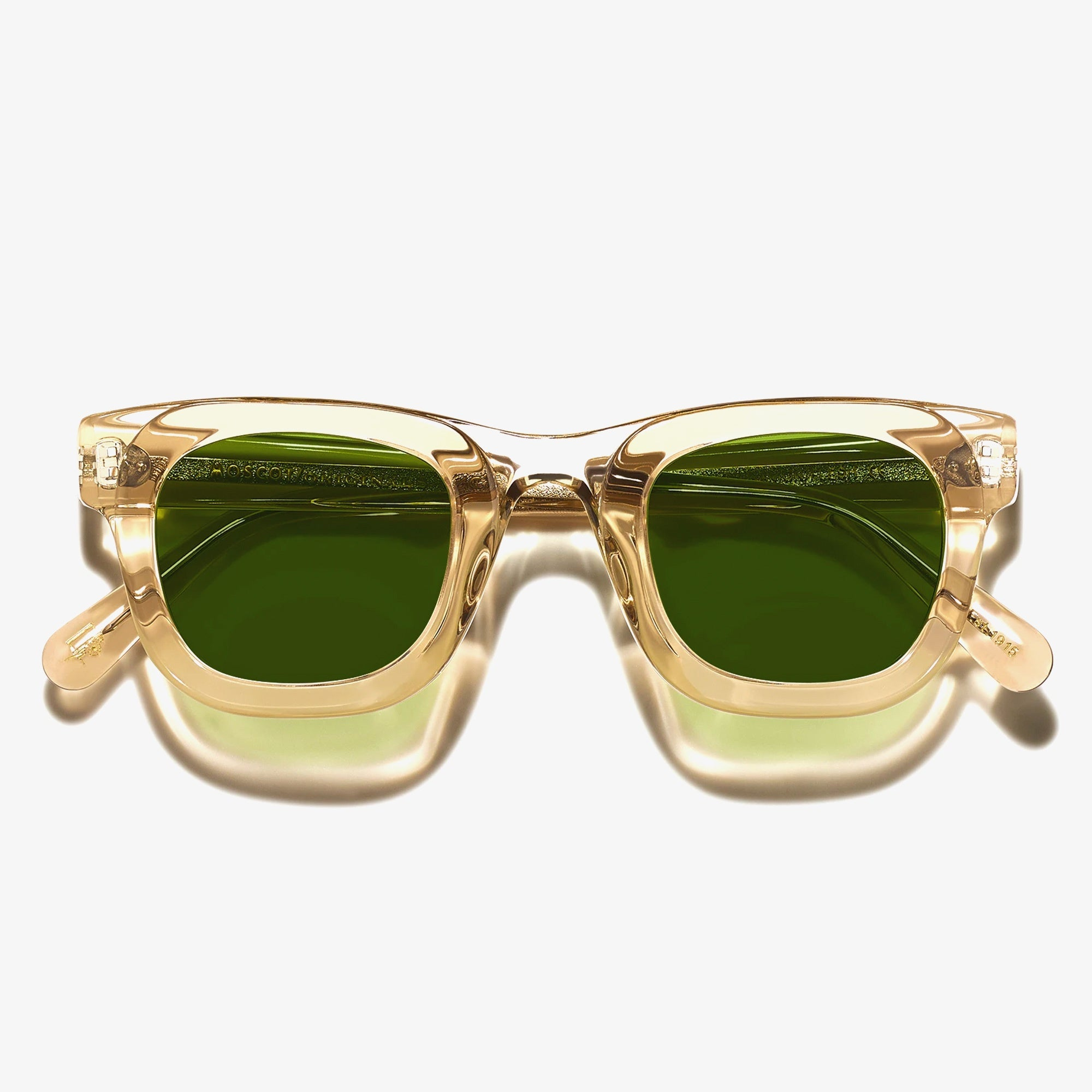 Moscot Fritz Sunglasses - Cinnamon / Flesh-Calibar Green 1