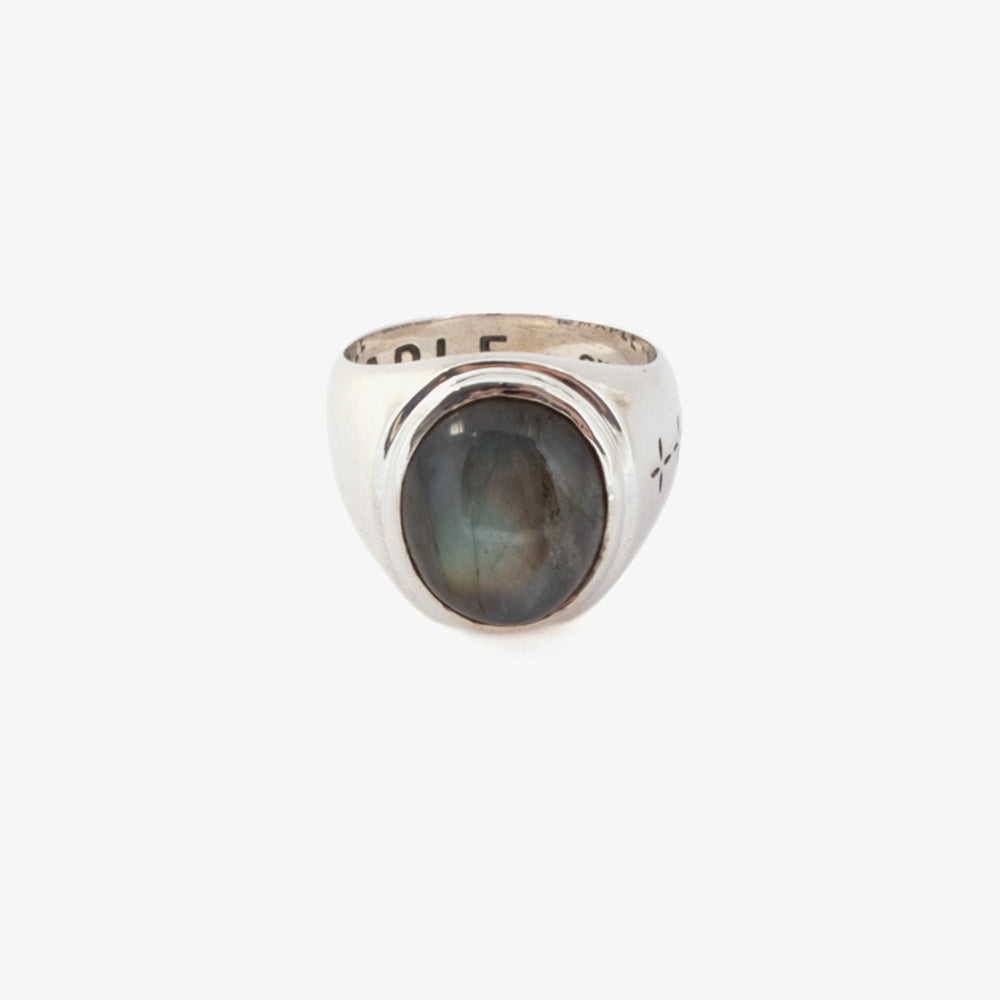 Maple Tommy Signet Ring - Silver 925 / Labrodorite 1