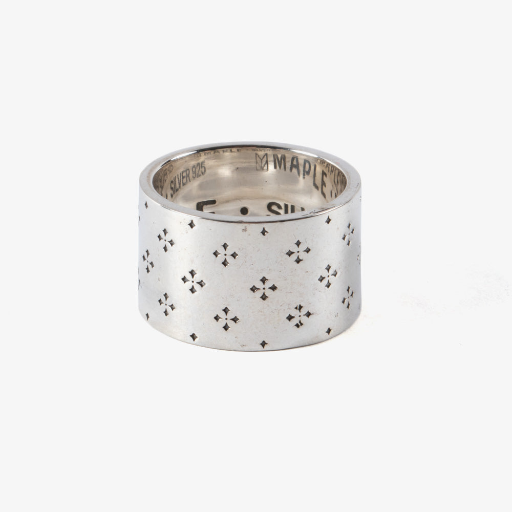 Maple Iron Cross Ring - Silver 925 1