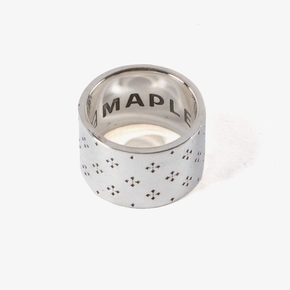 Maple Iron Cross Ring - Silver 925 2