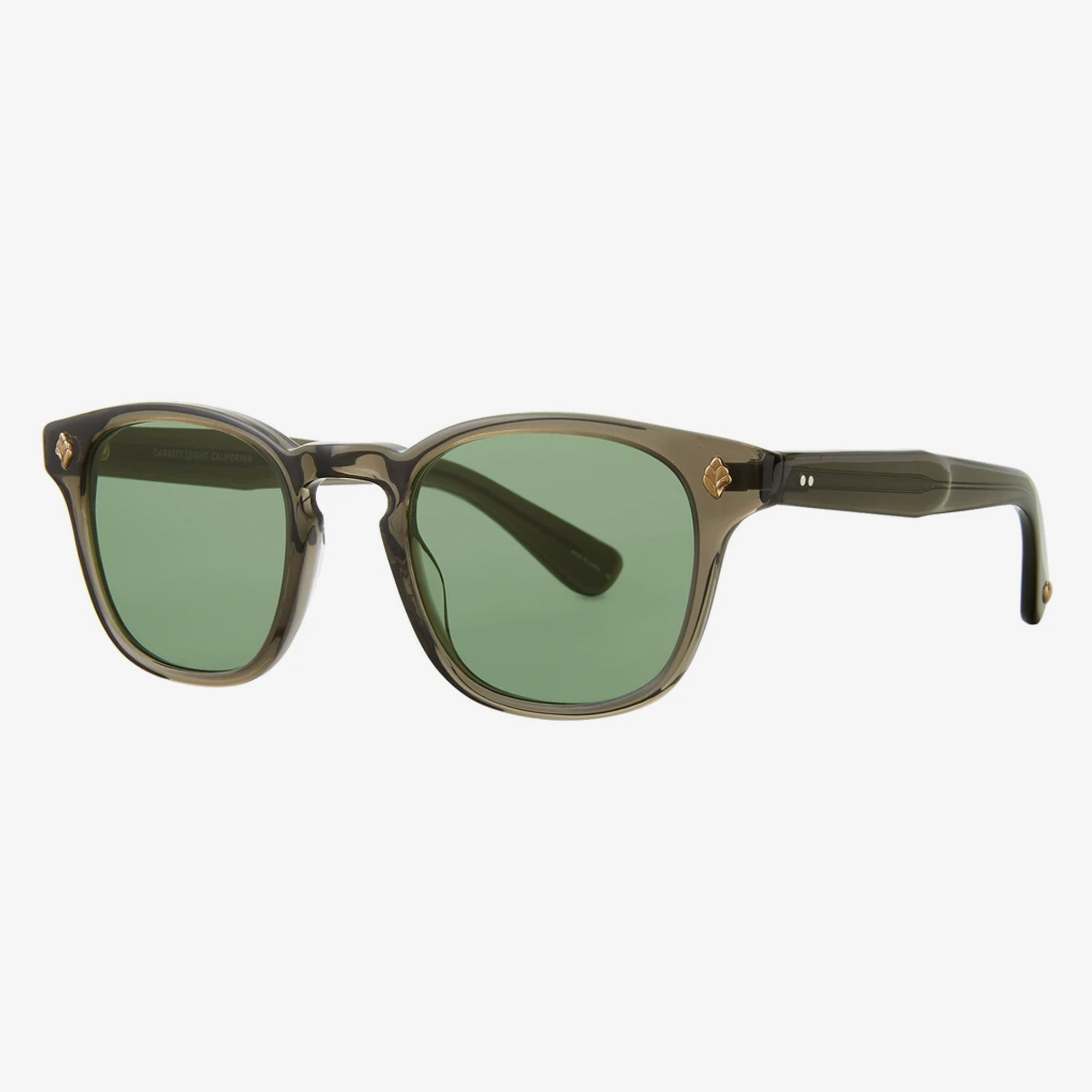 Garrett Leight Ace Sunglasses - Black Glass / Semi-Flat Pure G15 2