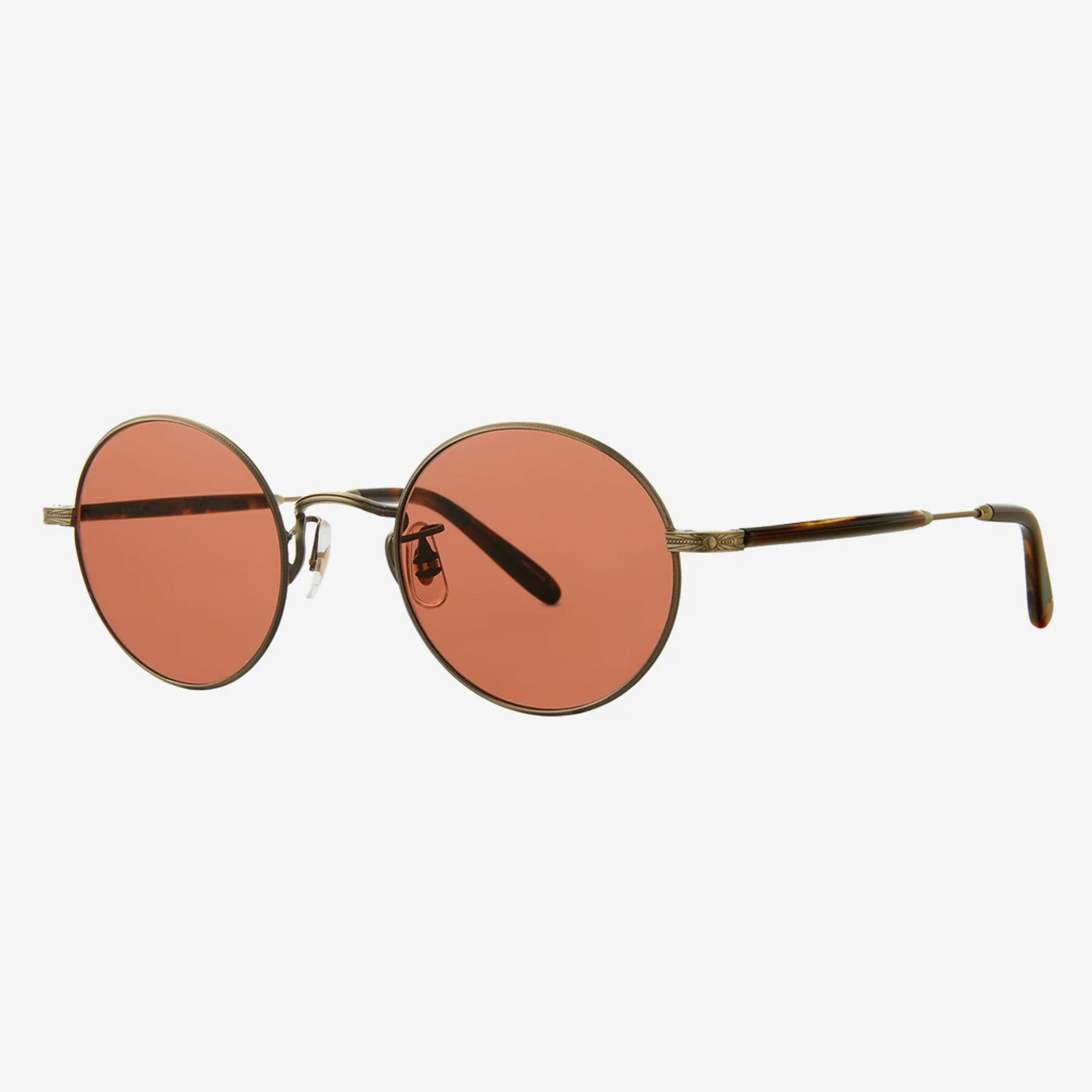 Garrett Leight Lovers Sunglasses - Antique Gold II-Brown Marble Tort / Pure Rosewood 2