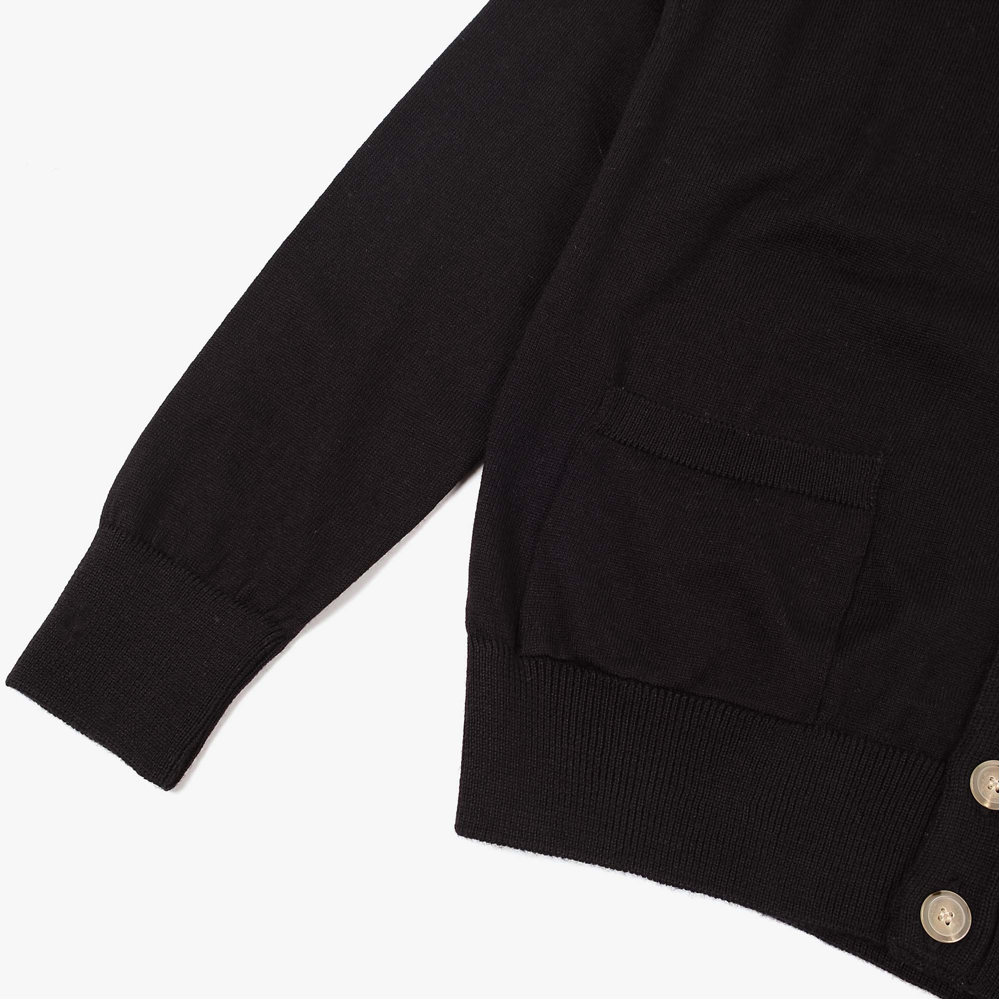 Maison Kitsune Mens Tricolour Fox Patch Merino Cardigan - Black 3