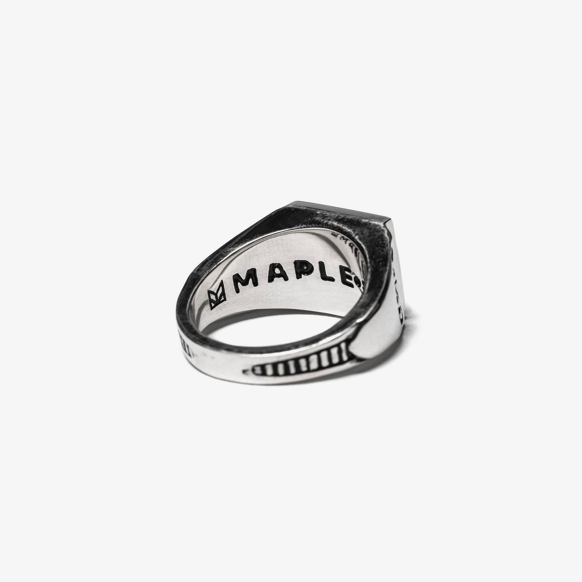 Maple Collegiate Ring Blank - Mother of Pearl / Silver 925 3