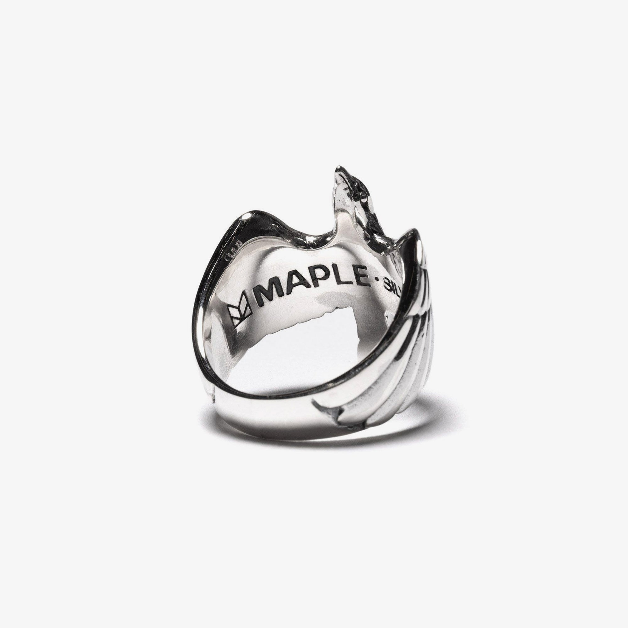Maple Eagle Ring - Silver 925 3