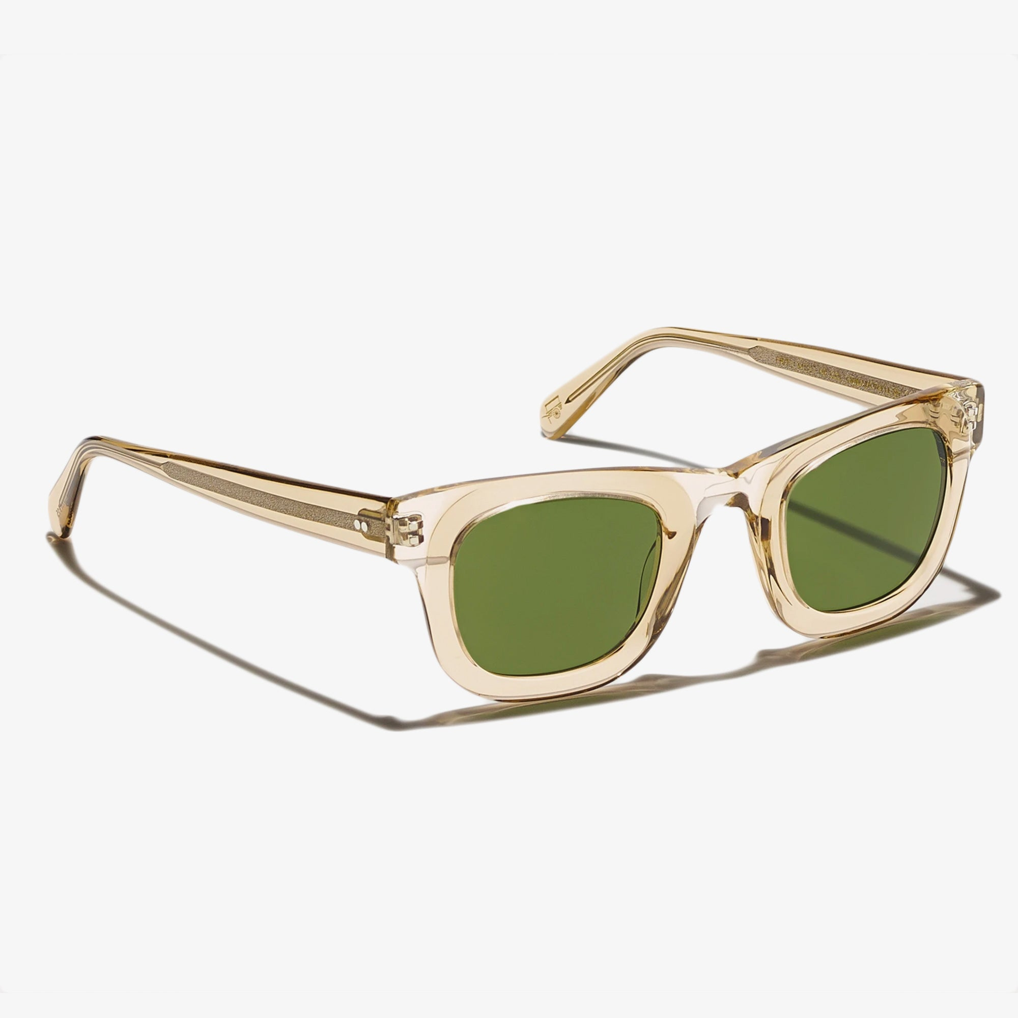 Moscot Fritz Sunglasses - Cinnamon / Flesh-Calibar Green 2