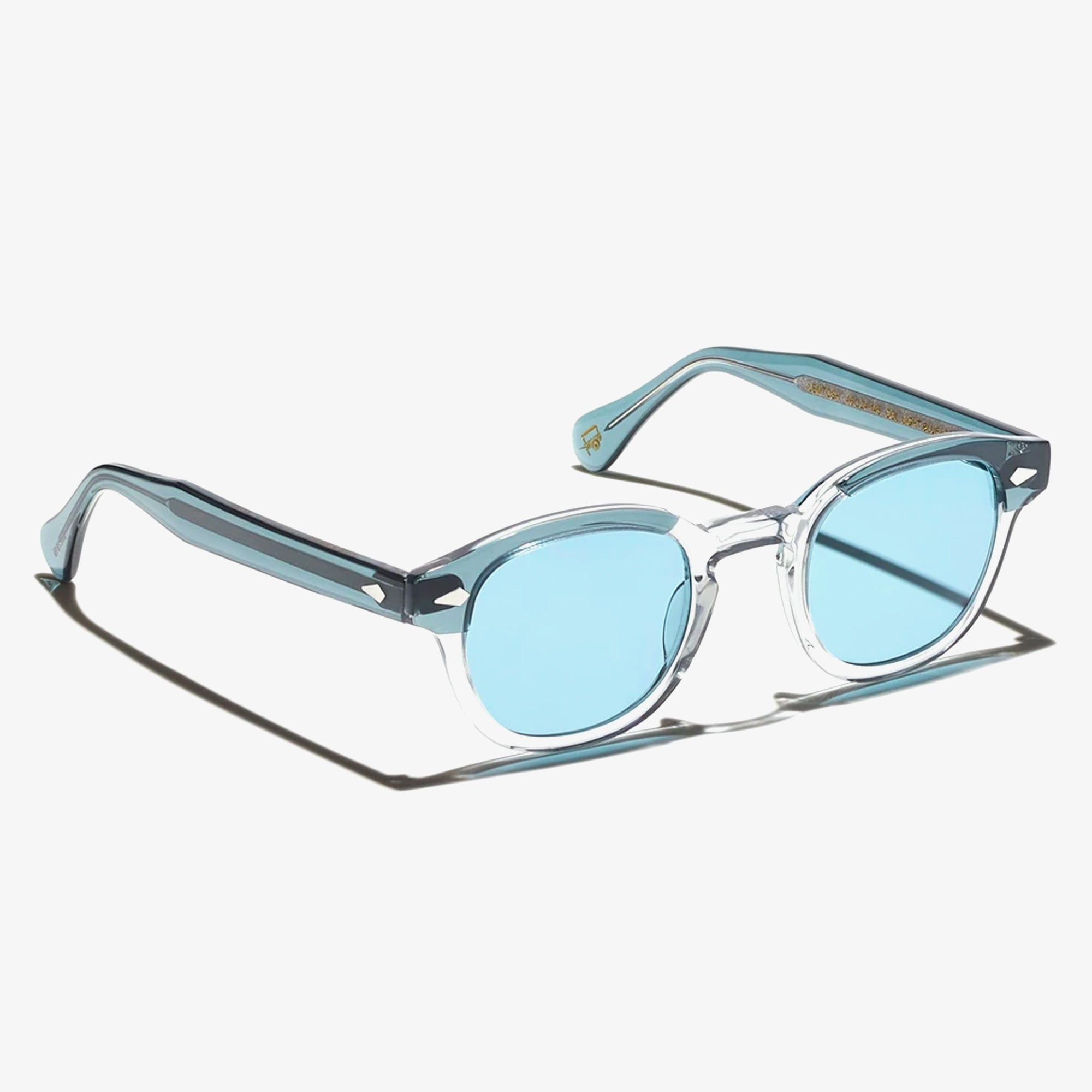 Moscot Lemtosh Sunglasses - Light Blue Grey/ Mineral Blue 2