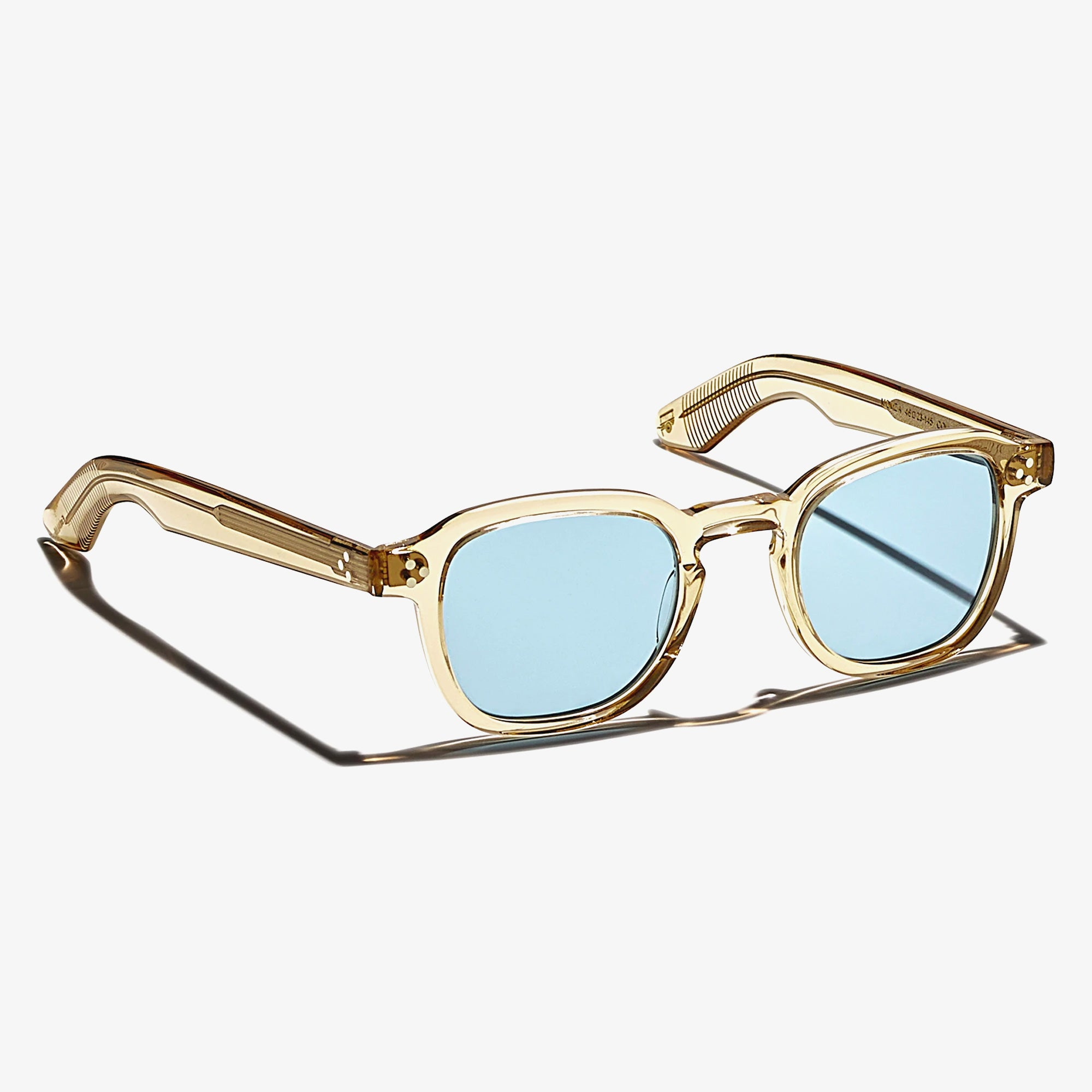 Moscot Momza Sunglasses - Cinnamon / Blue 2