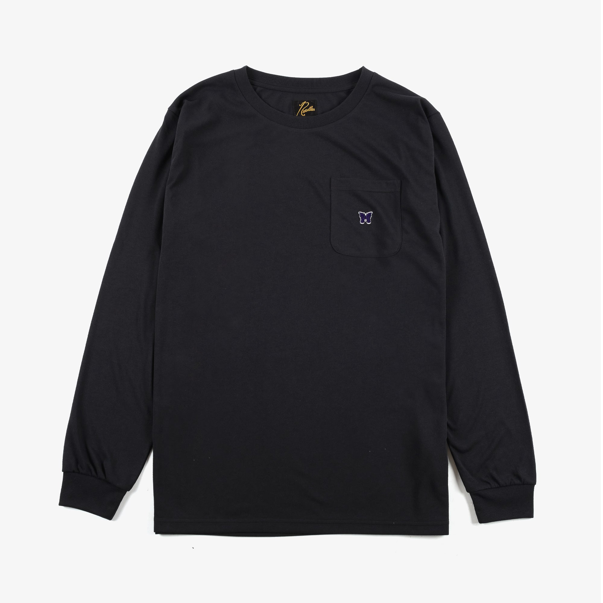 Needles M' L/S Crew Neck T-Shirt - Black 1