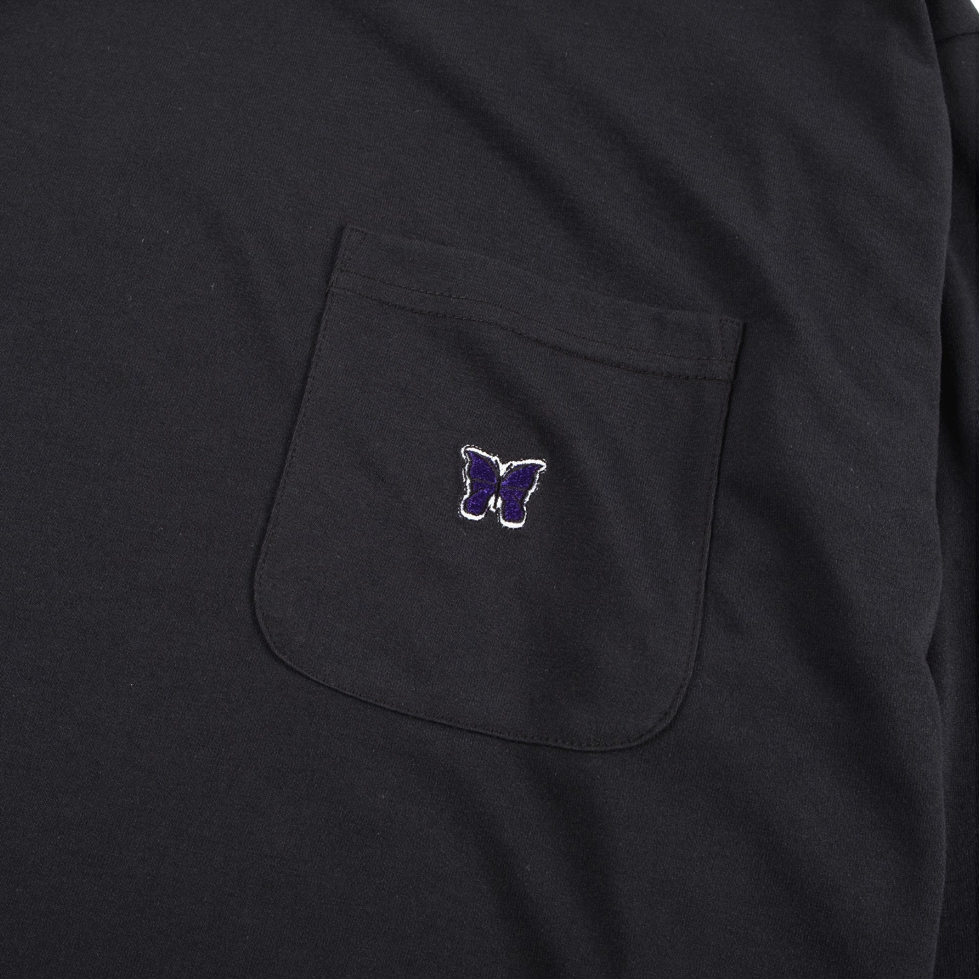 Needles M' L/S Crew Neck T-Shirt - Black 2