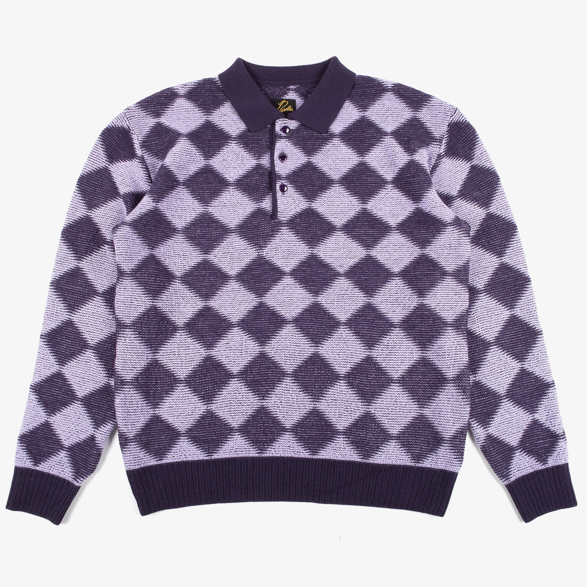 Needles M' Polo Sweater Checkered - Purple 1