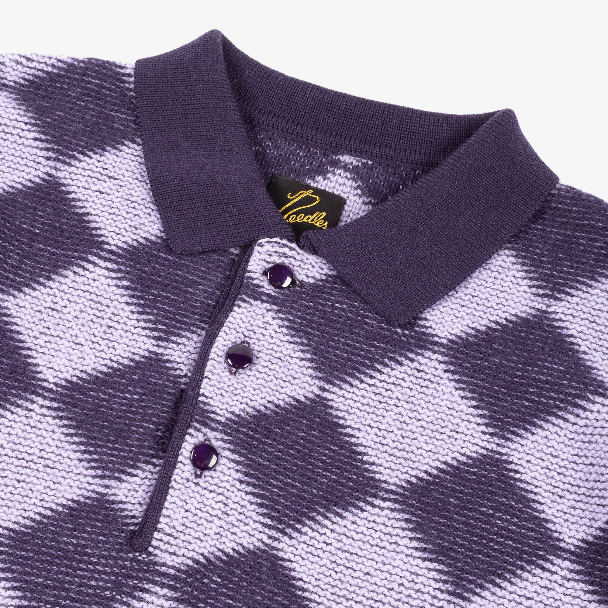 Needles M' Polo Sweater Checkered - Purple 2