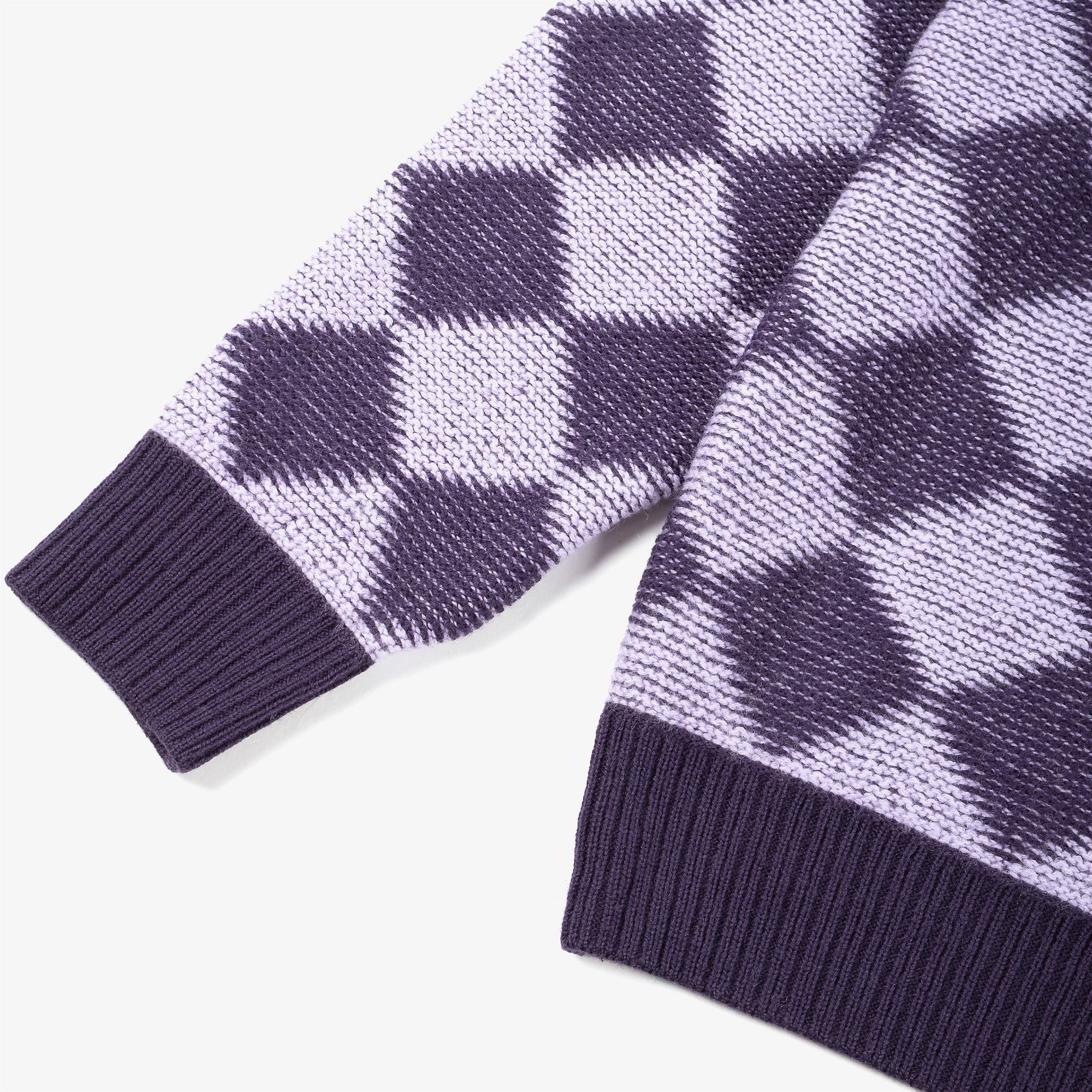 Needles M' Polo Sweater Checkered - Purple 3