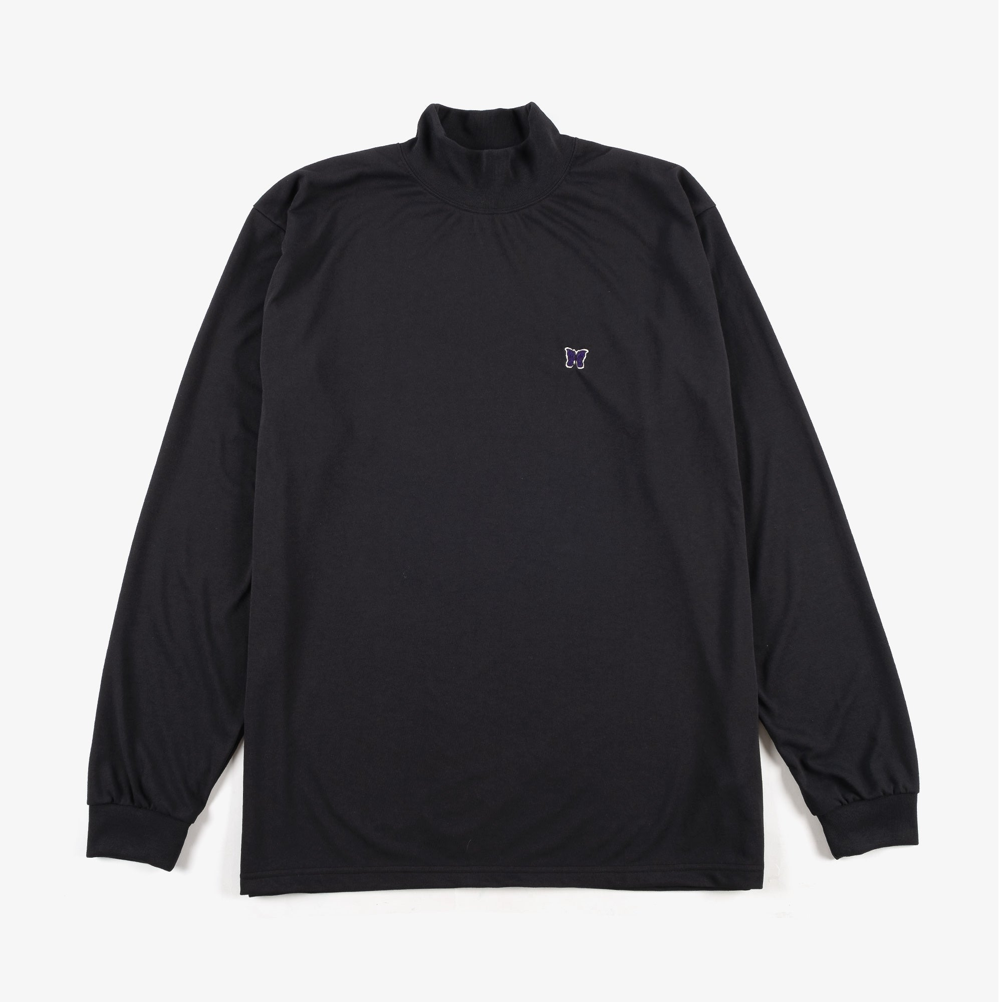 Needles M' L/S Mock Neck T-Shirt - Black 1