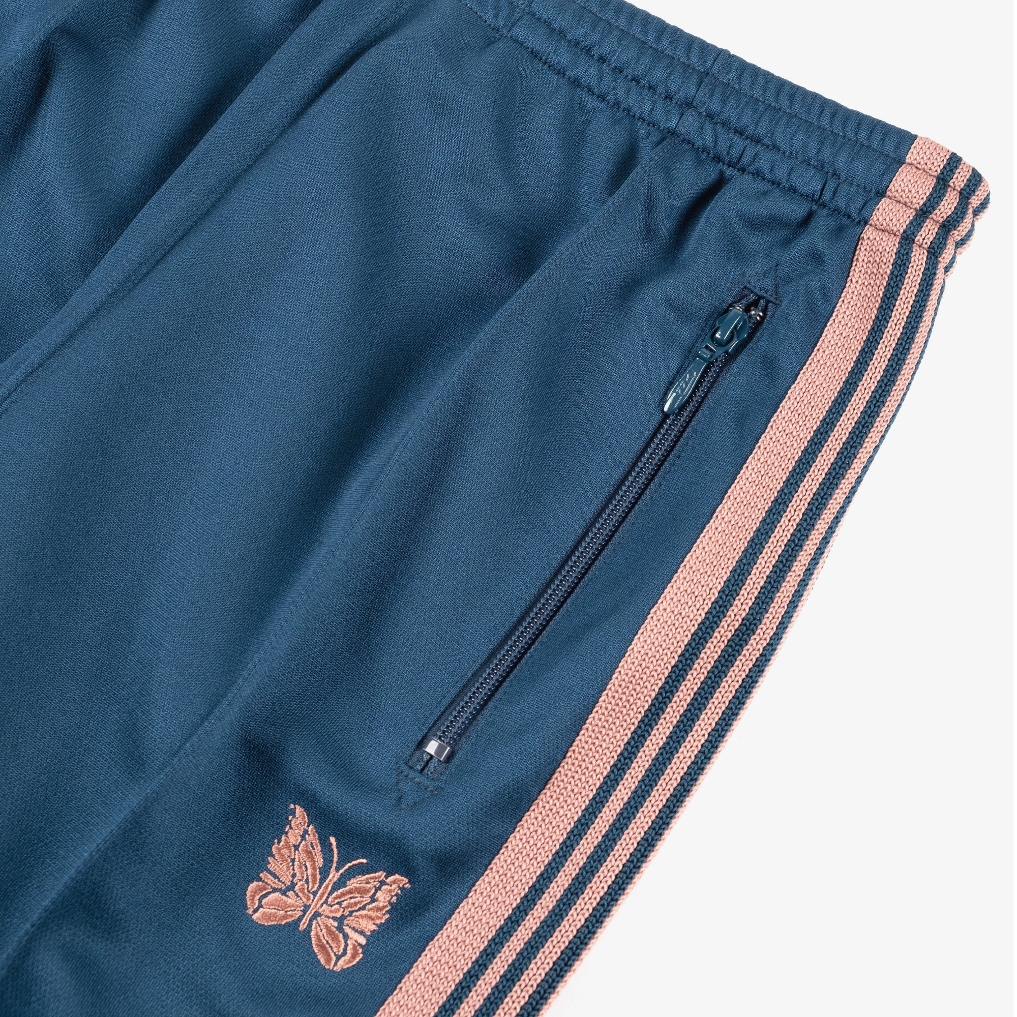 Needles M' Narrow Track Pant - Poly Smooth Teal Green 3