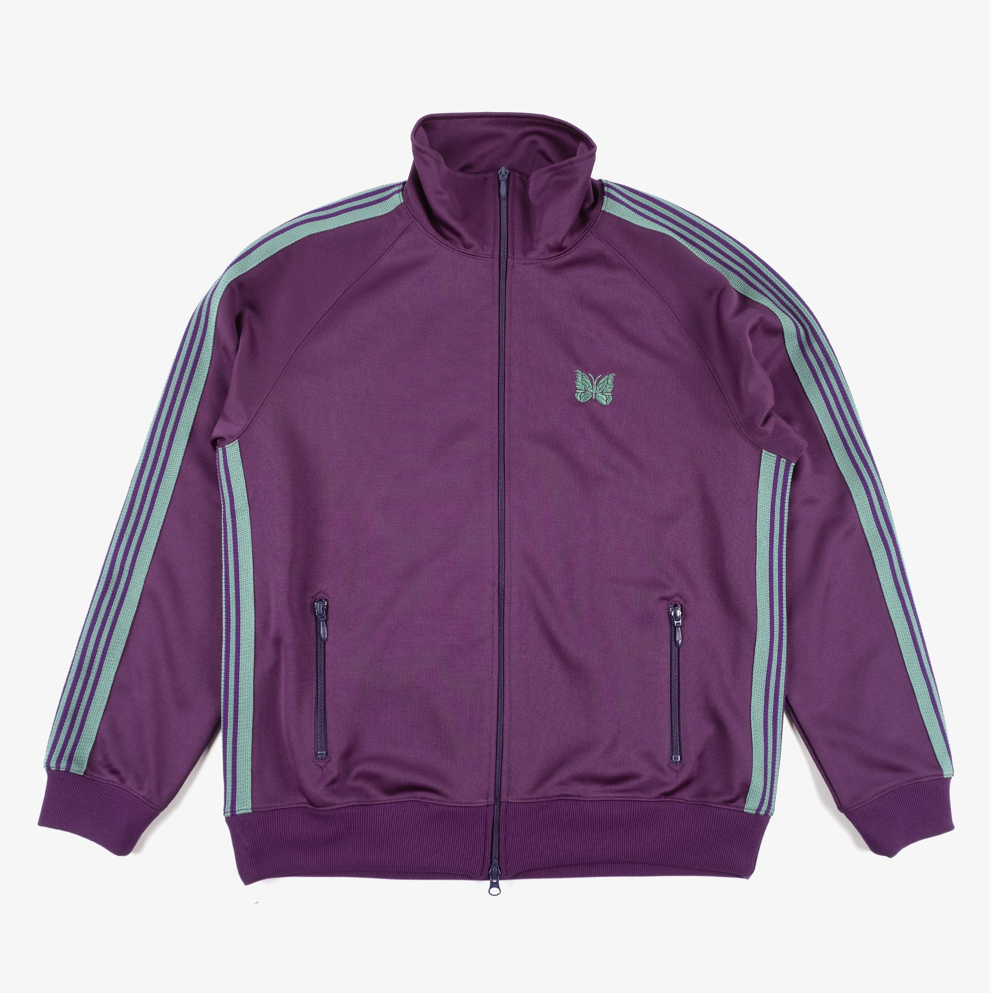 Needles M' Track Jacket - Poly Smooth Eggplant 1