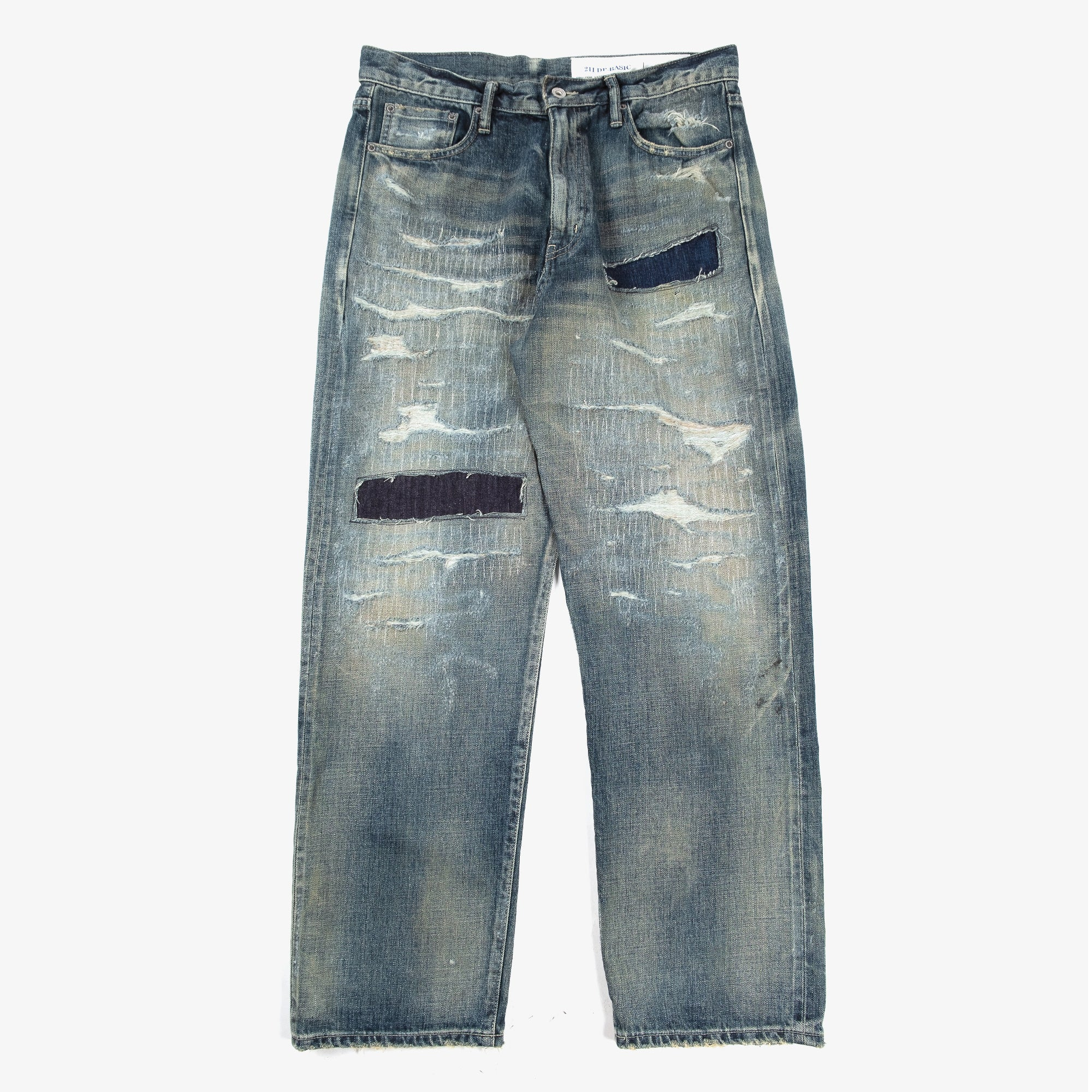 Neighborhood Scratch Savage DP Basic Pants - Indigo 1