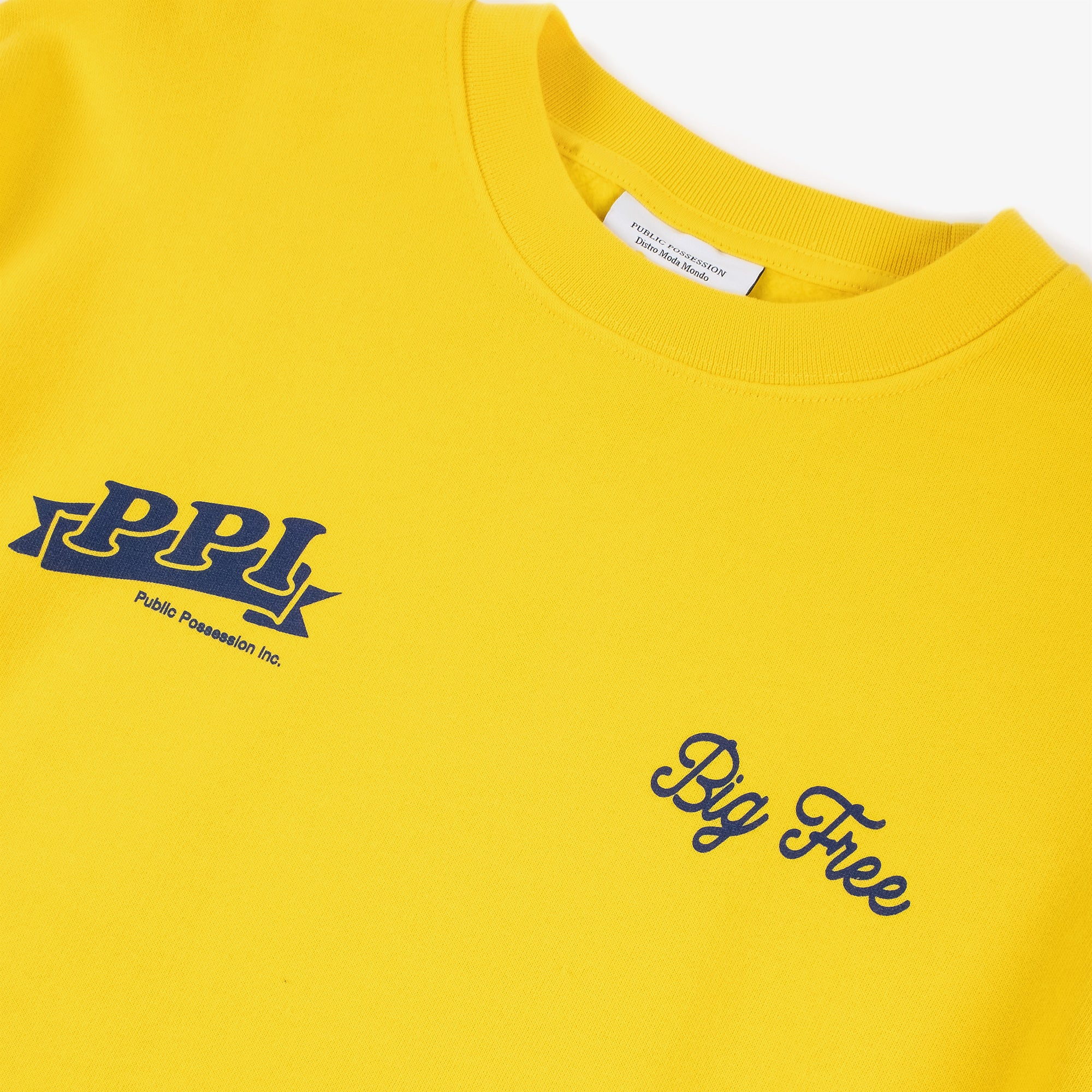 Public Possession Logo Crewneck Sweat - Yellow 2