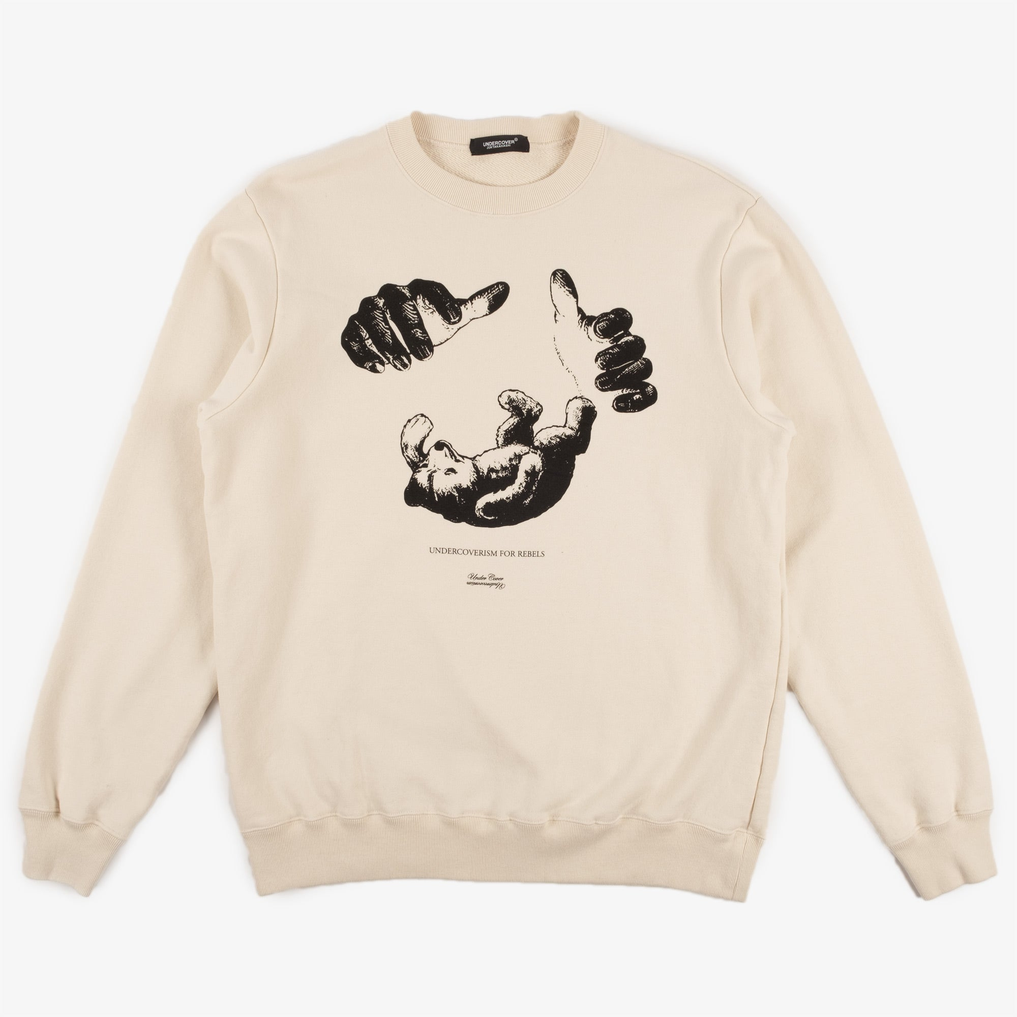 Undercover Teddy Sweat UC2A4893-6 - Ivory 1