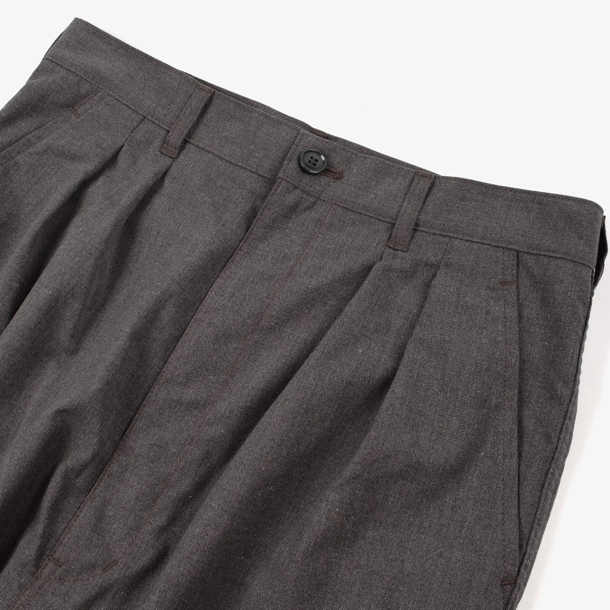 Comme des Garçons - Homme Two Tuck Wide Pleat Trousers - Grey 3