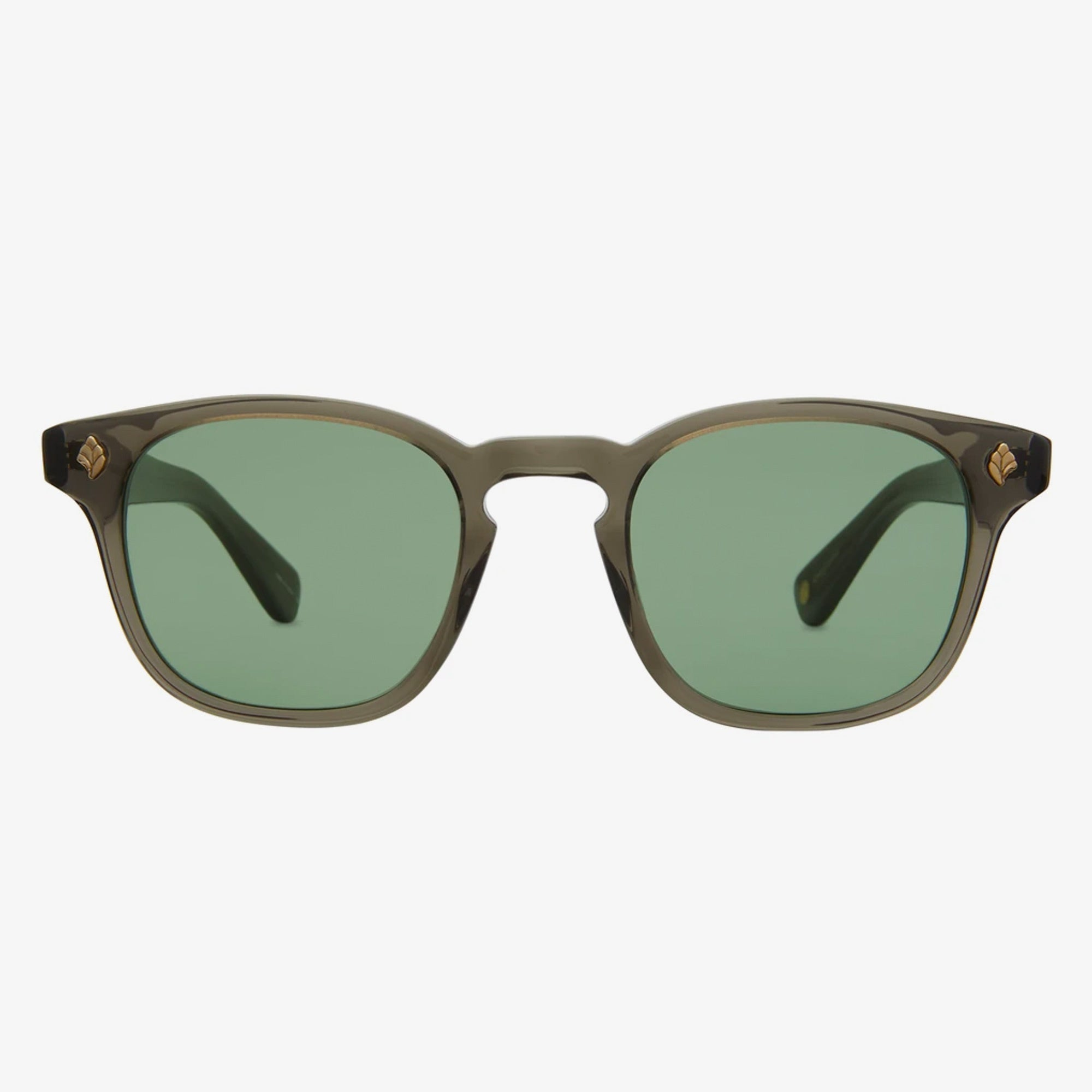 Garrett Leight Ace Sunglasses - Black Glass / Semi-Flat Pure G15 1