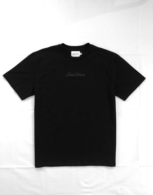 PLATINUM 3D EMBROIDERY T-SHIRT BLACK