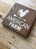 America Farm, Rooster Sign