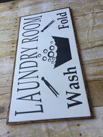 Wood Sign, Laundry room,